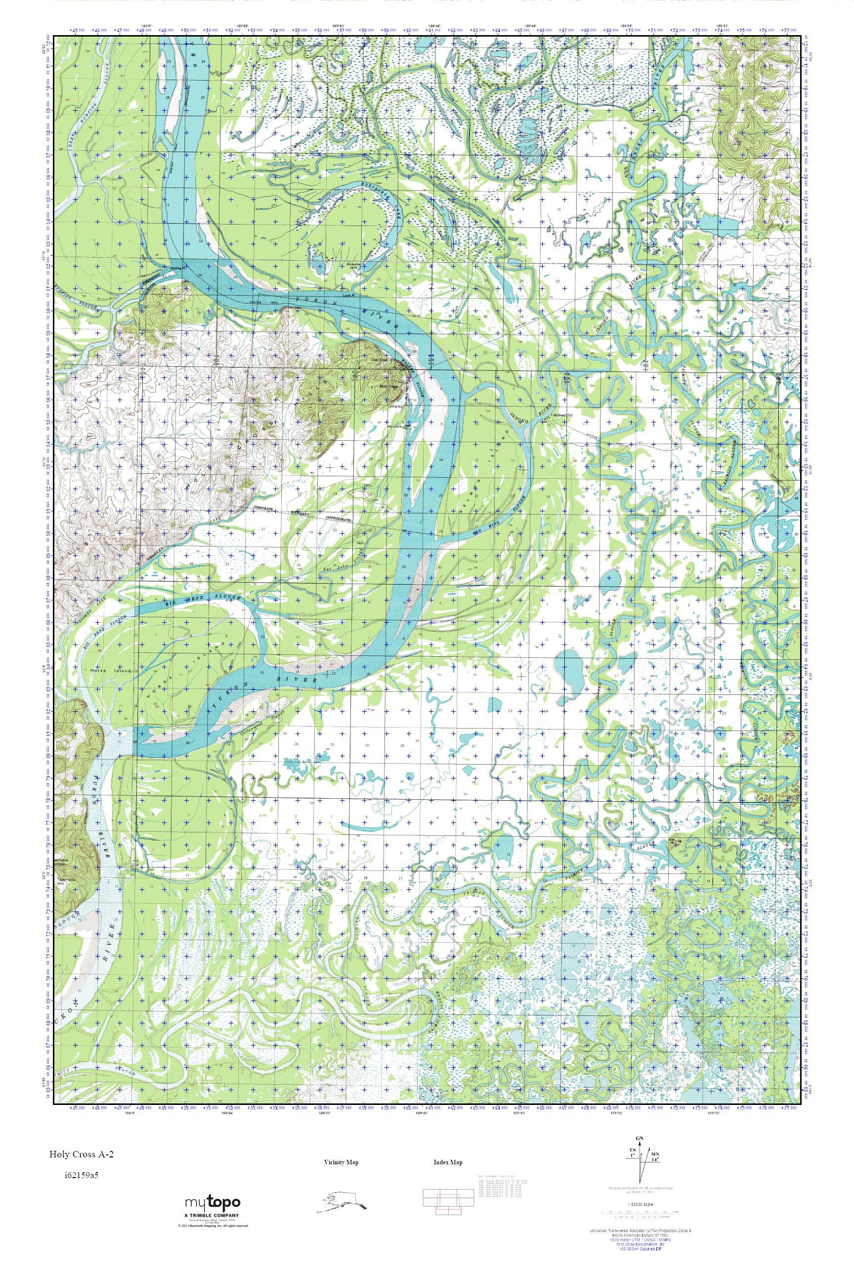 MyTopo Holy Cross A-2, Alaska USGS Quad Topo Map