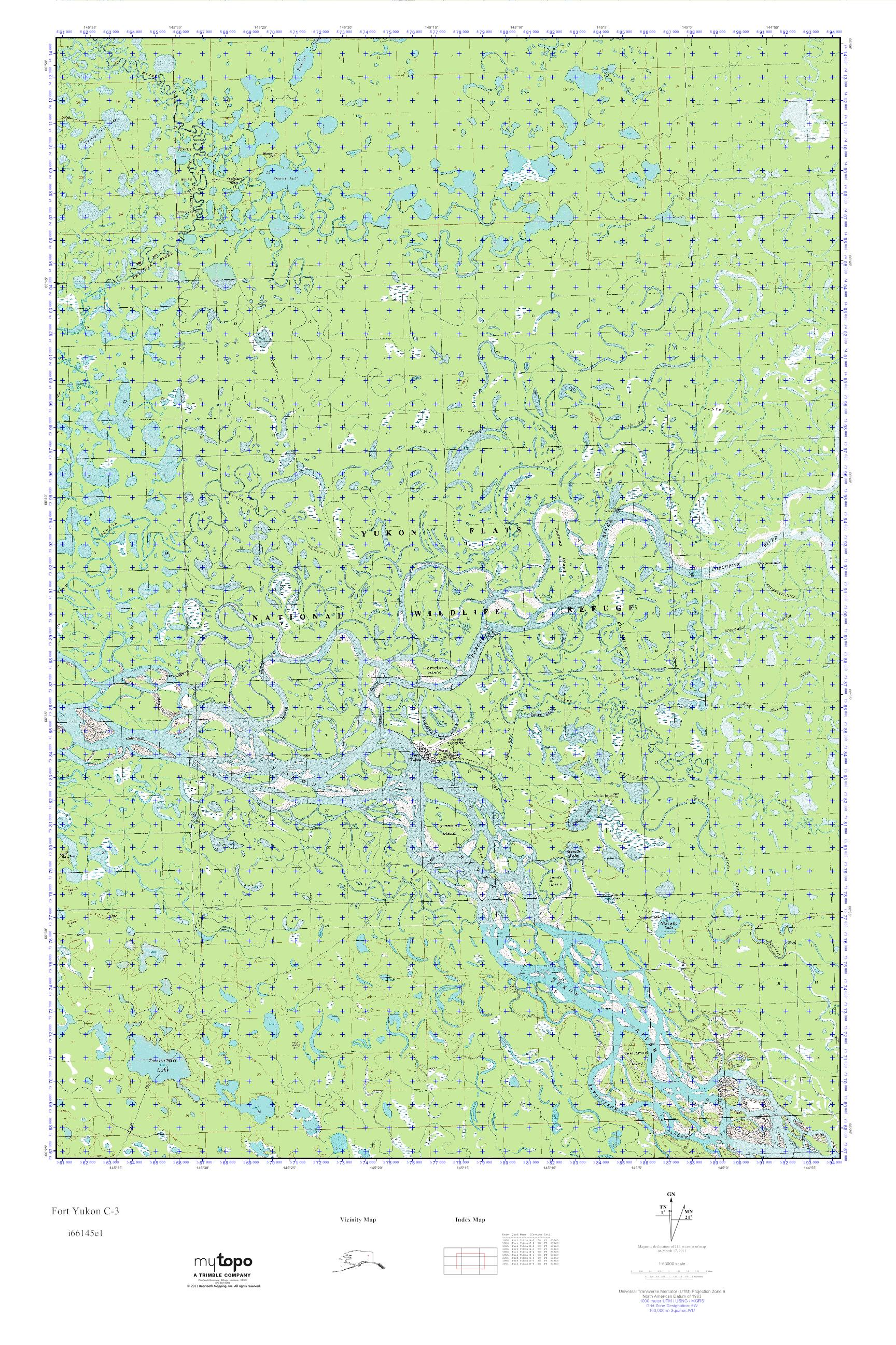 Fort Yukon Alaska Map.Mytopo Fort Yukon C 3 Alaska Usgs Quad Topo Map