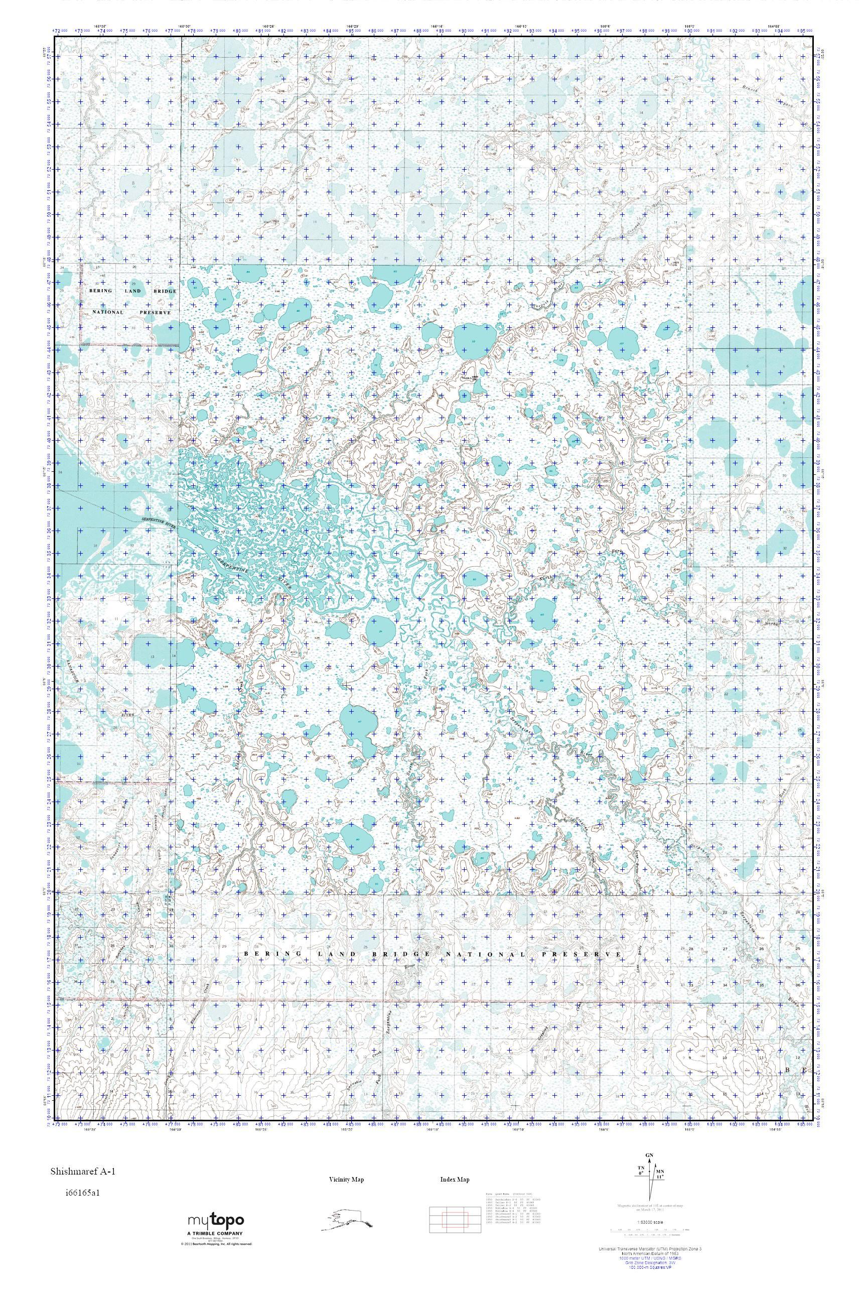 MyTopo Shishmaref A-1, Alaska USGS Quad Topo Map