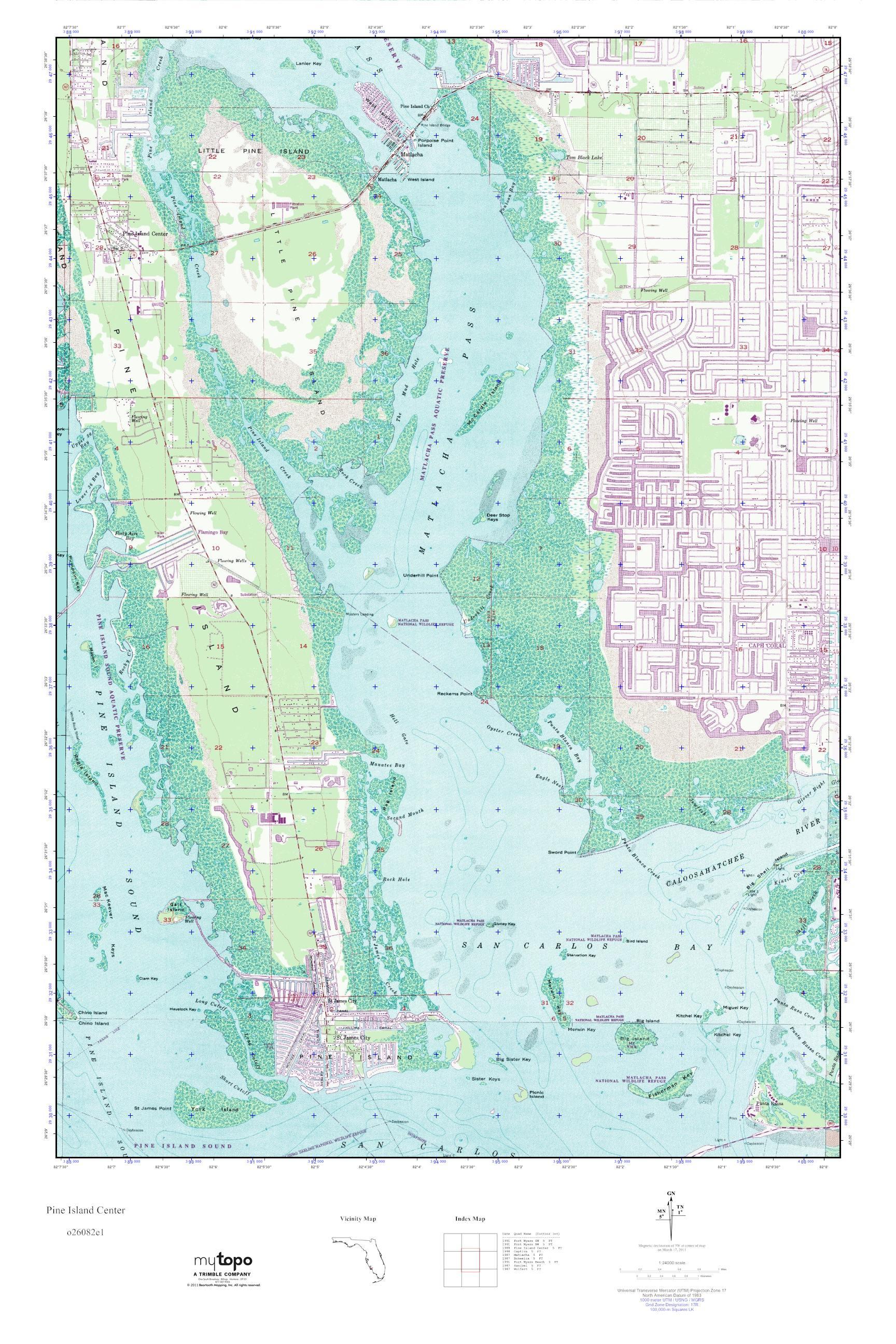 MyTopo Pine Island Center, Florida USGS Quad Topo Map