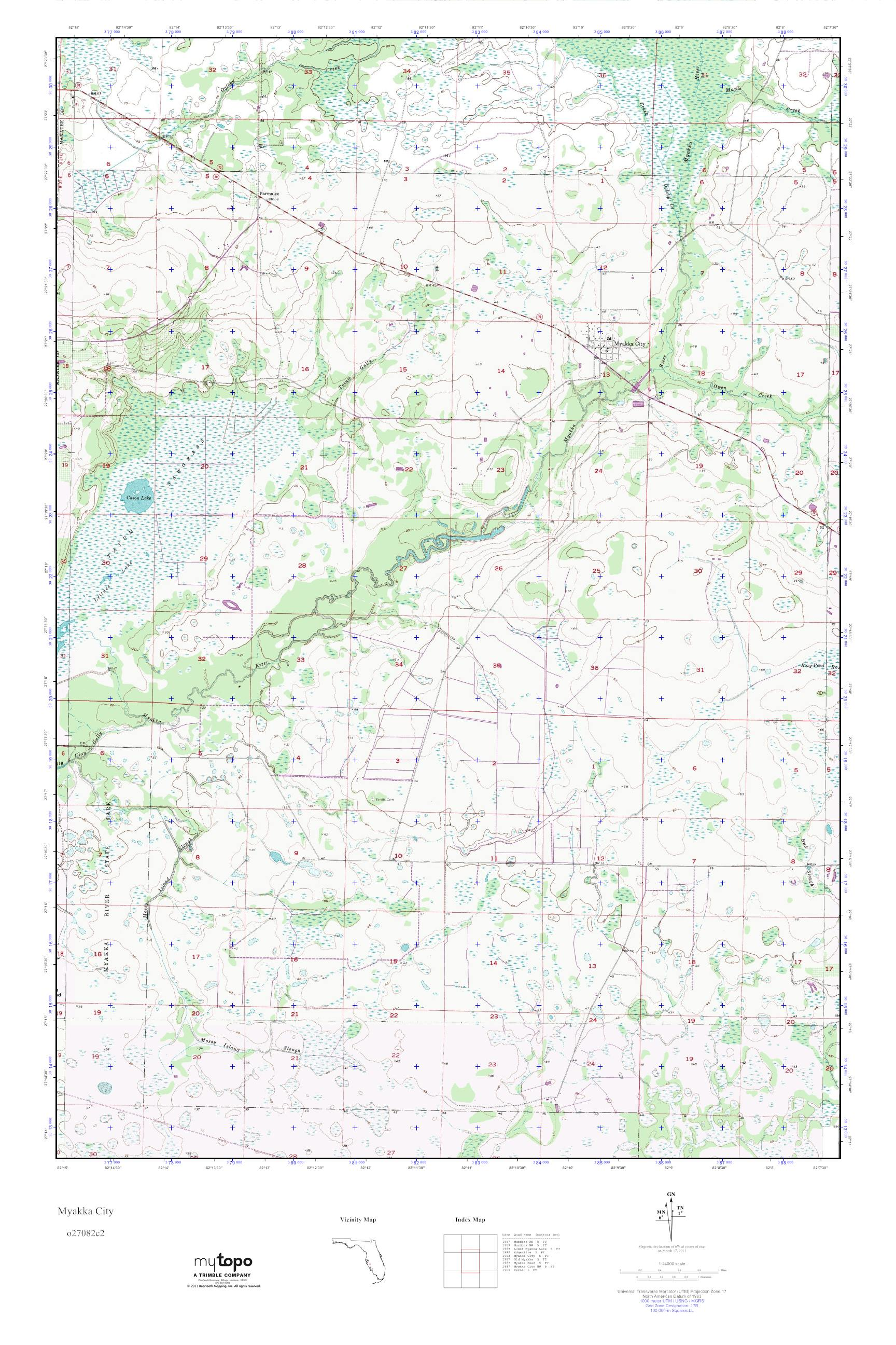Myakka City Florida Map.Mytopo Myakka City Florida Usgs Quad Topo Map