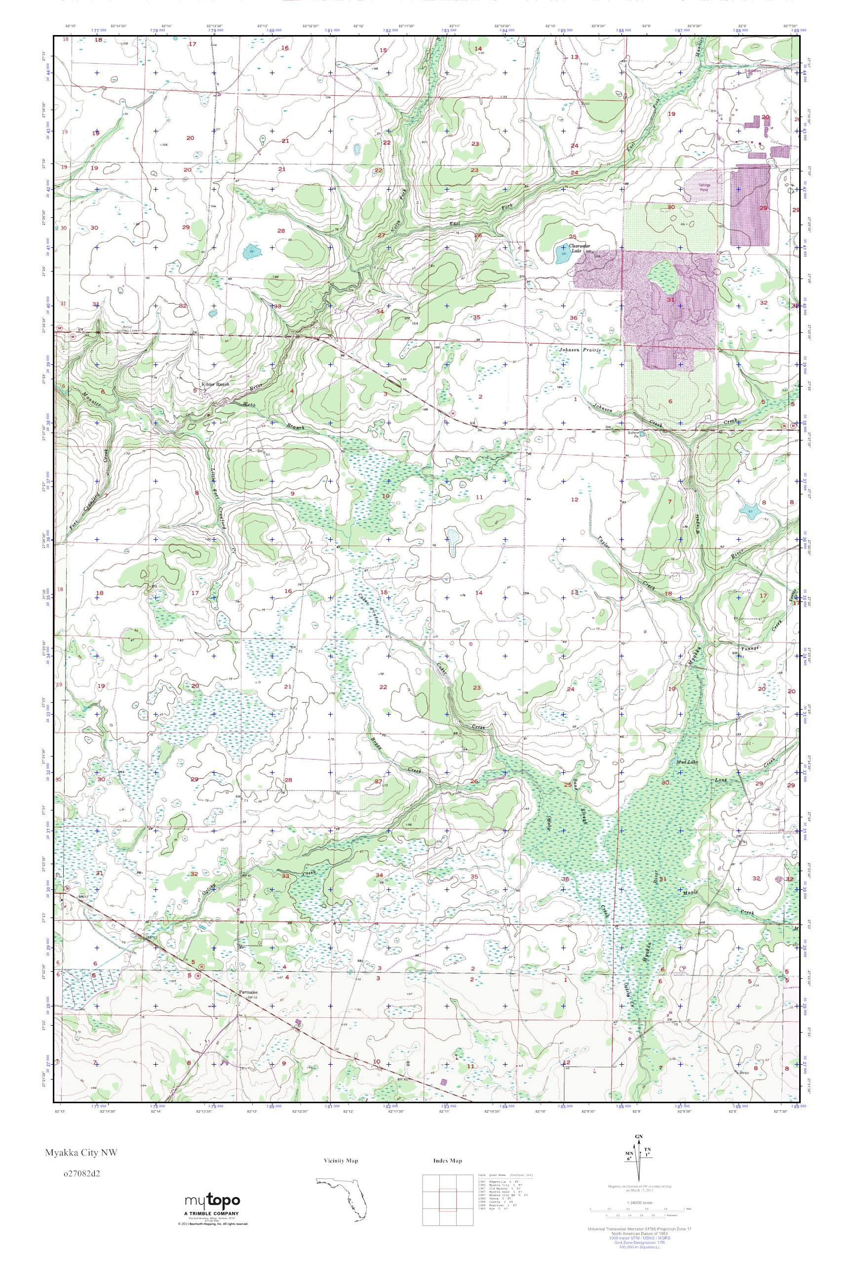 Myakka City Florida Map.Mytopo Myakka City Nw Florida Usgs Quad Topo Map