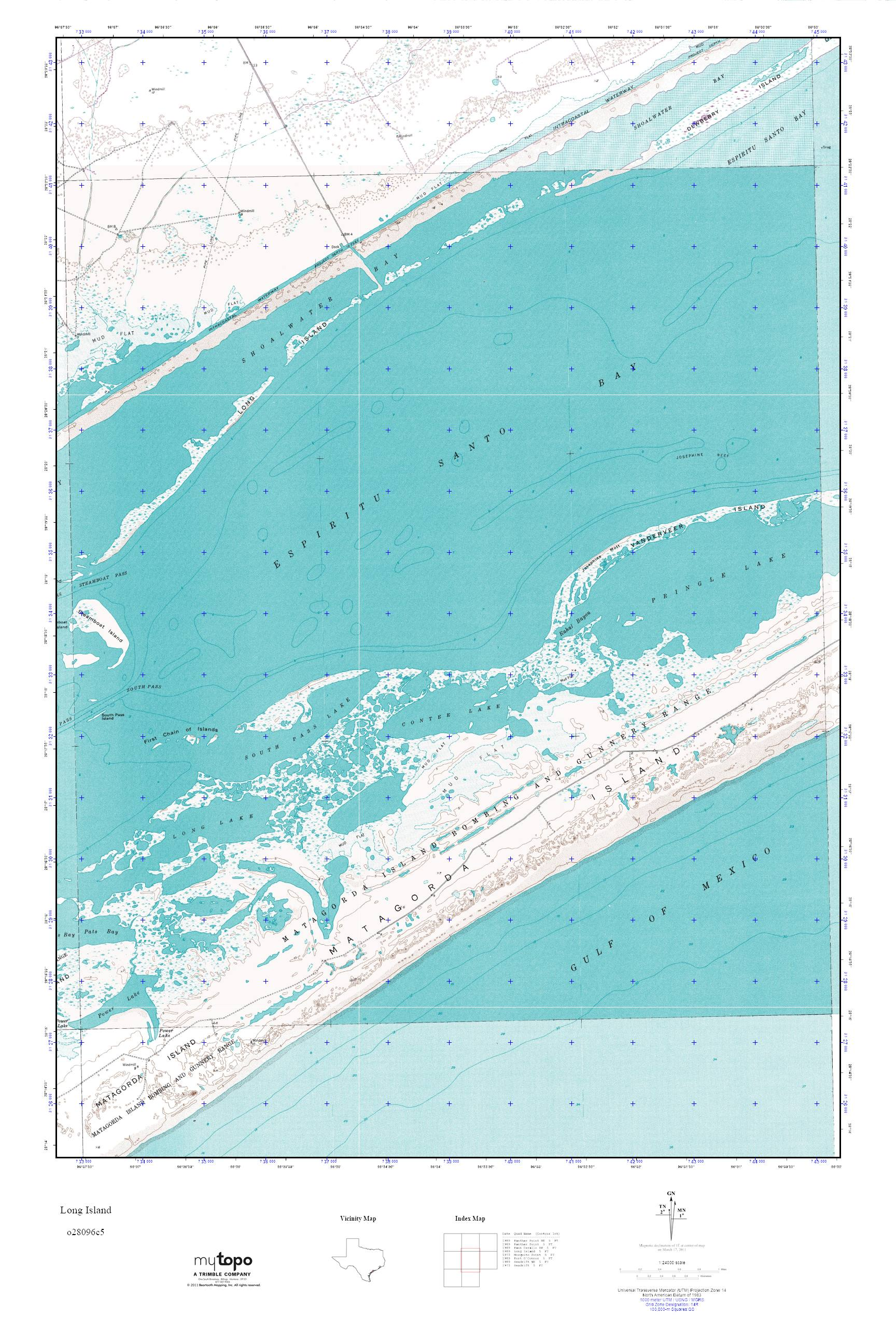 Topographic Map Long Island.Mytopo Long Island Texas Usgs Quad Topo Map