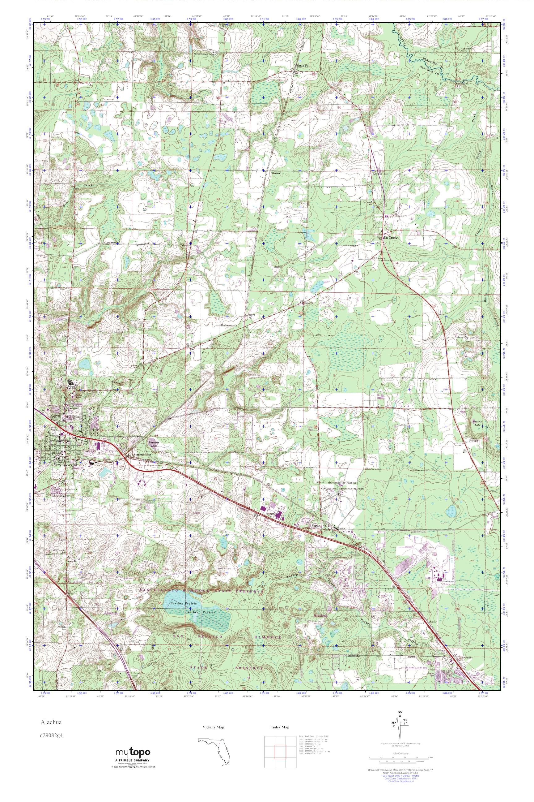 Alachua Florida Map.Mytopo Alachua Florida Usgs Quad Topo Map
