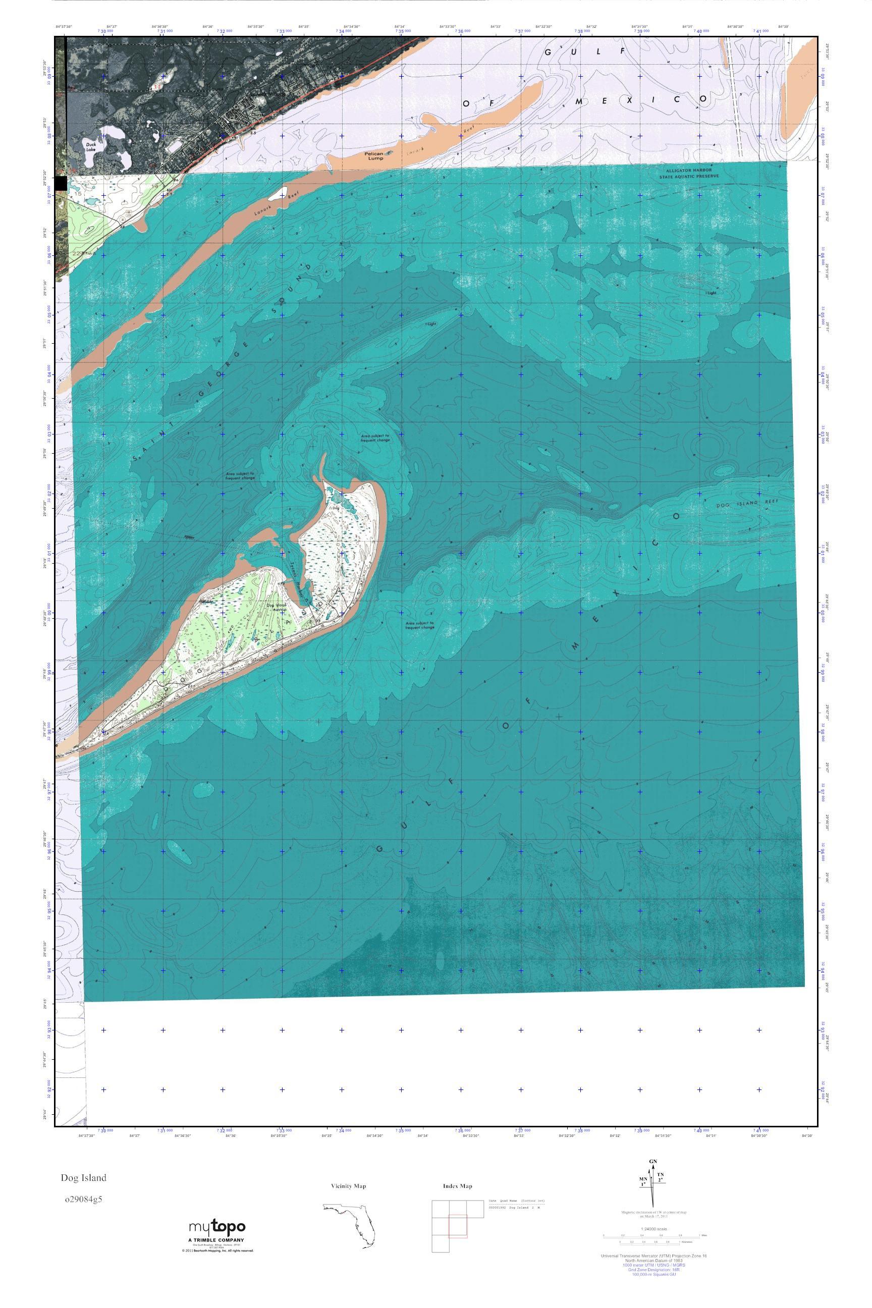Dog Island Florida Map.Mytopo Dog Island Florida Usgs Quad Topo Map