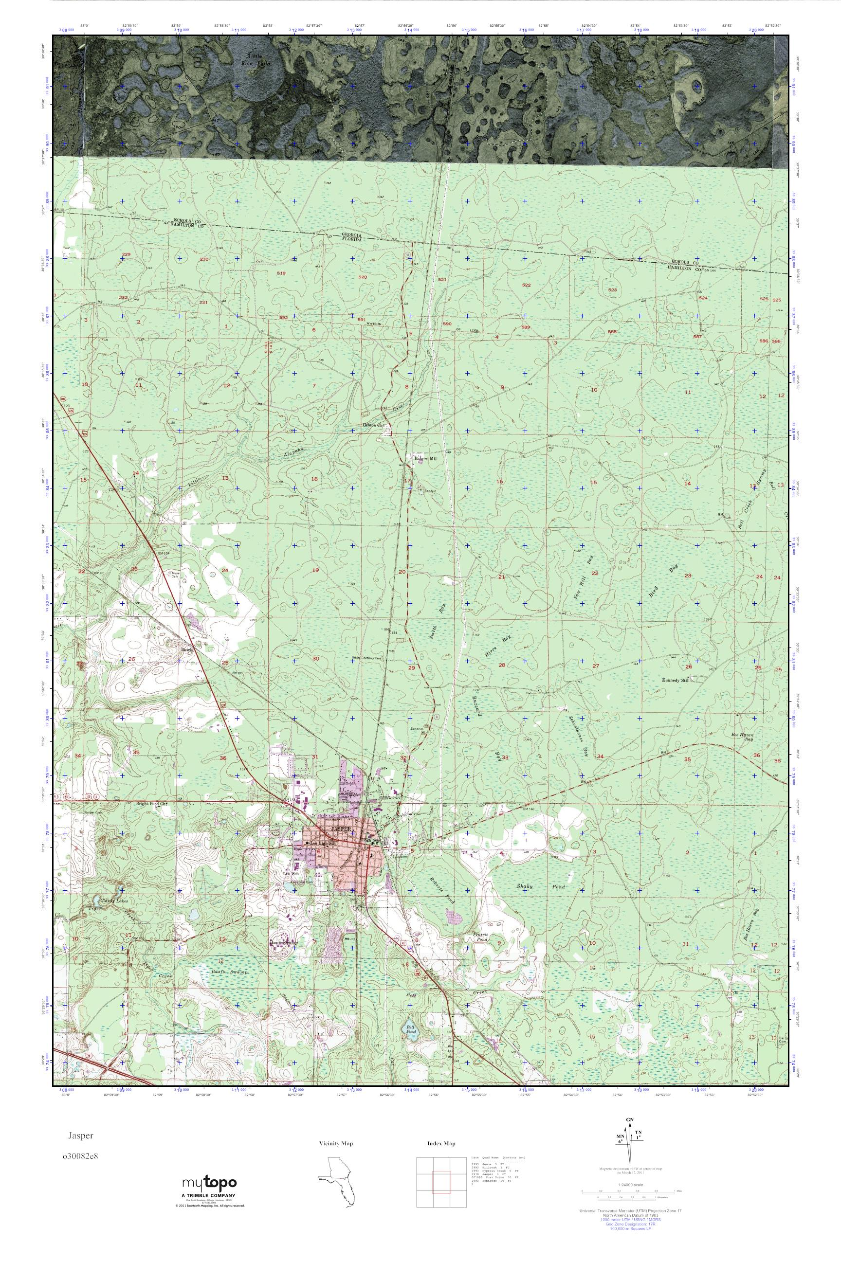 Jasper Georgia Map.Mytopo Jasper Georgia Usgs Quad Topo Map