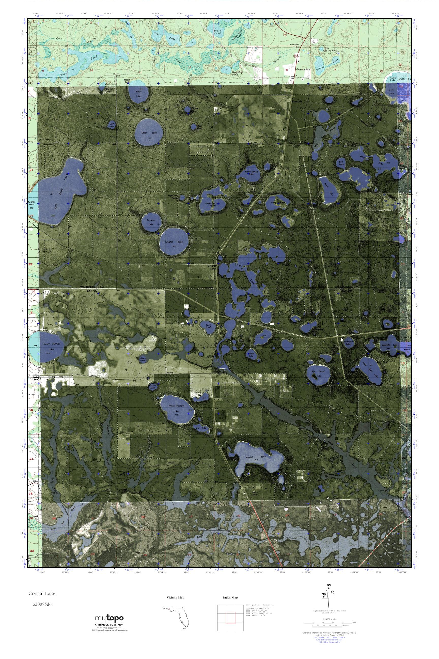Crystal Lake Florida Map.Mytopo Crystal Lake Florida Usgs Quad Topo Map
