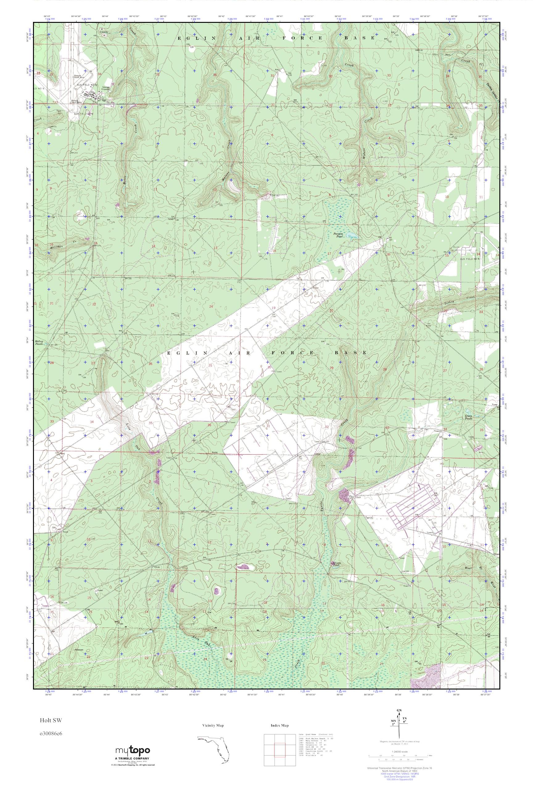 Holt Florida Map.Mytopo Holt Sw Florida Usgs Quad Topo Map