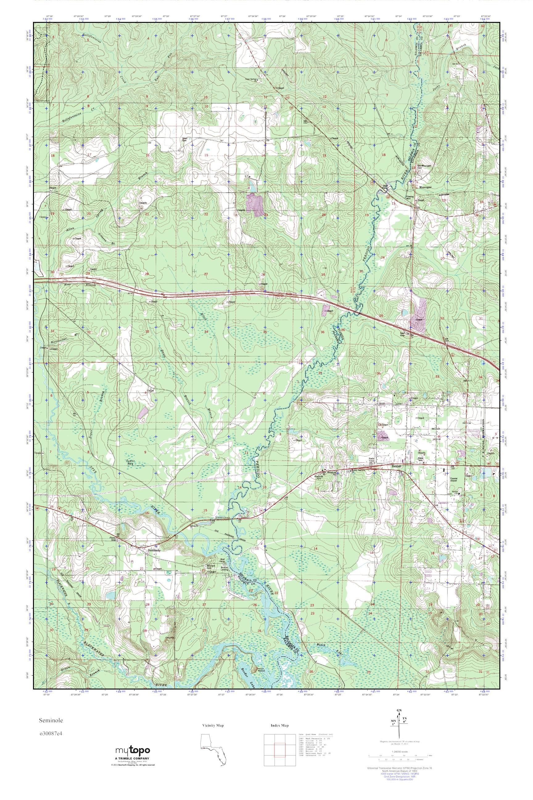 Seminole Florida Map.Mytopo Seminole Florida Usgs Quad Topo Map