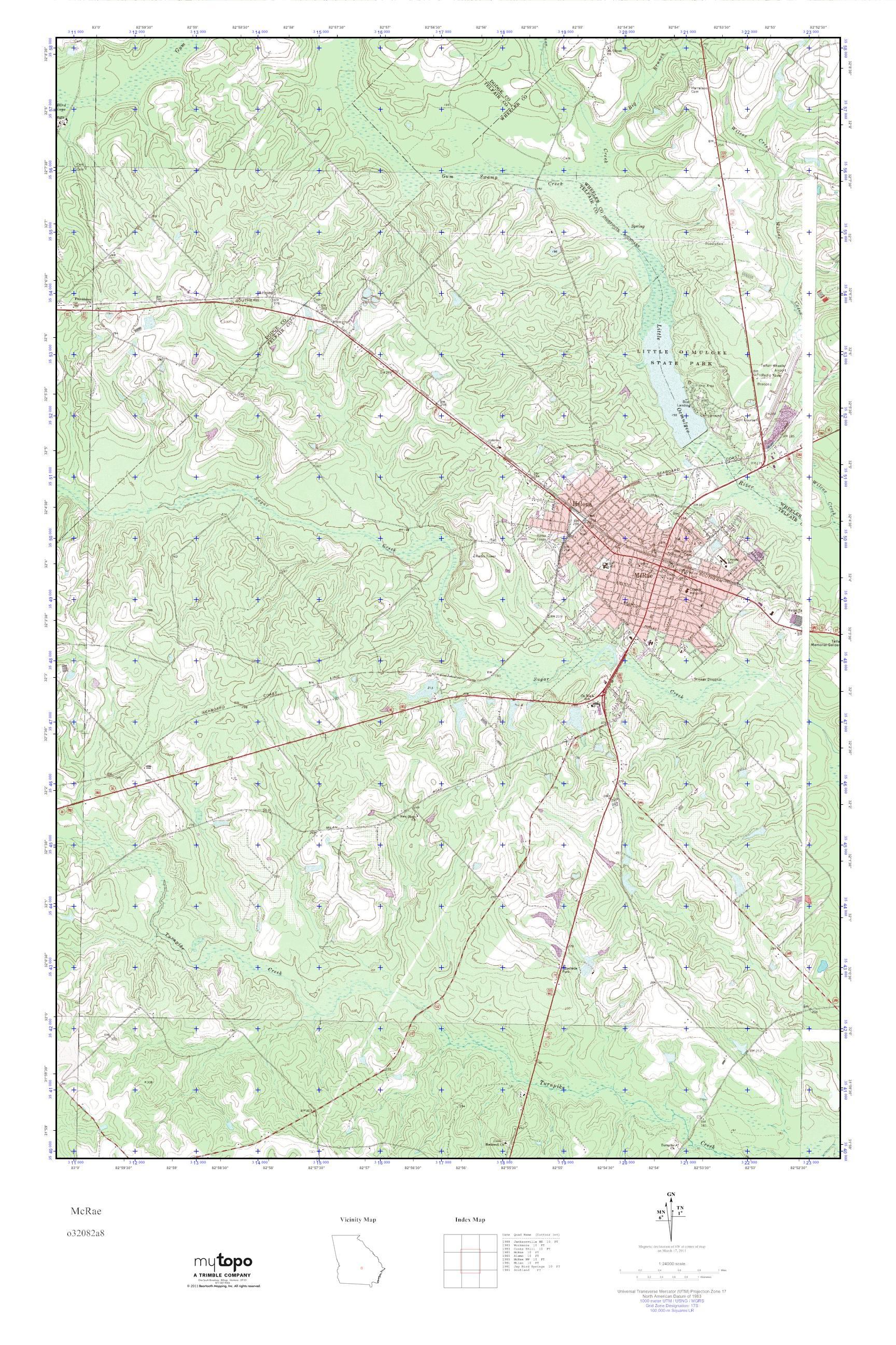 Mytopo Mcrae Georgia Usgs Quad Topo Map