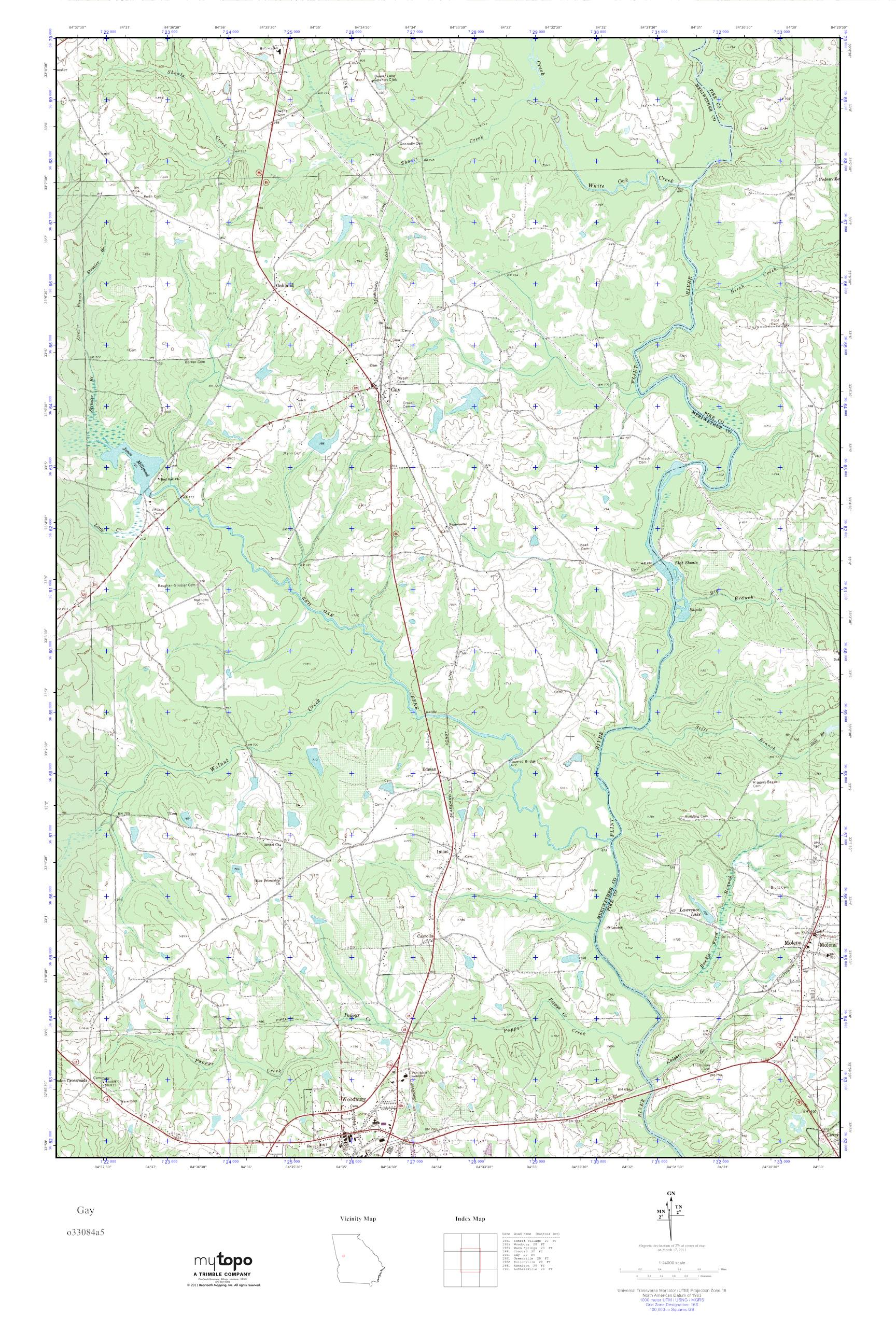 Mytopo Gay Georgia Usgs Quad Topo Map