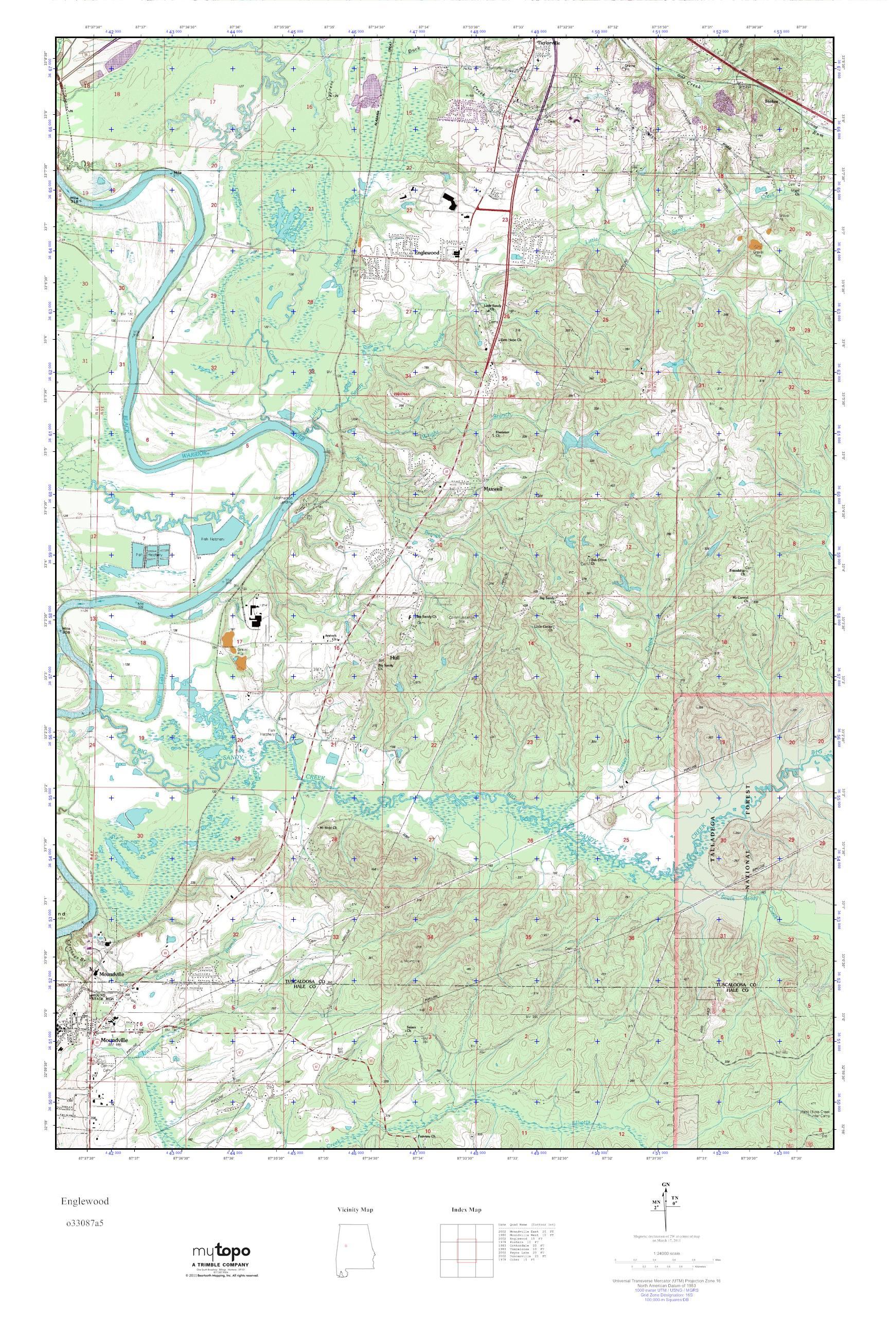 MyTopo Englewood Alabama USGS Quad Topo Map - Usgs quad maps