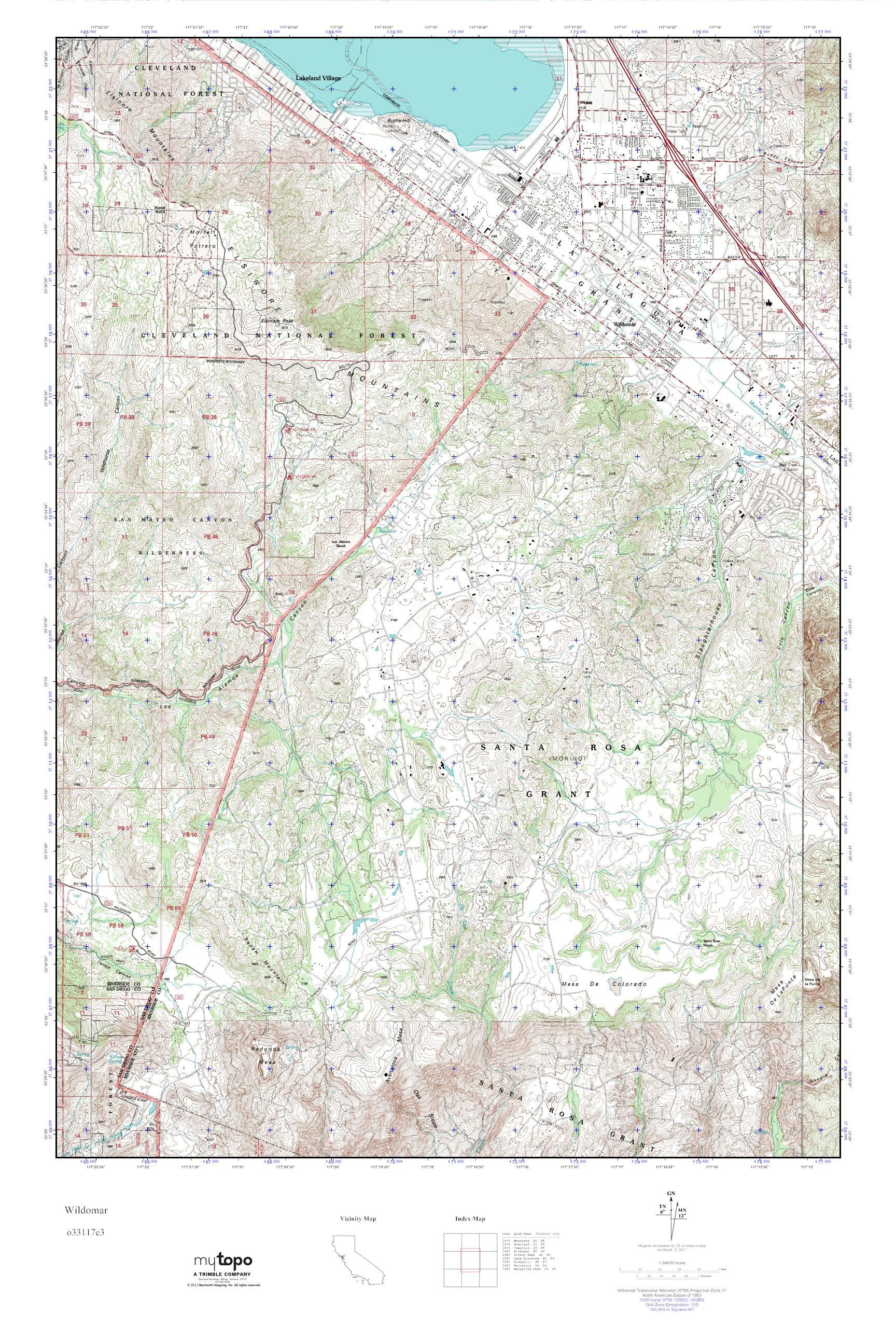 MyTopo Wildomar California USGS Quad Topo Map - Usgs quad maps