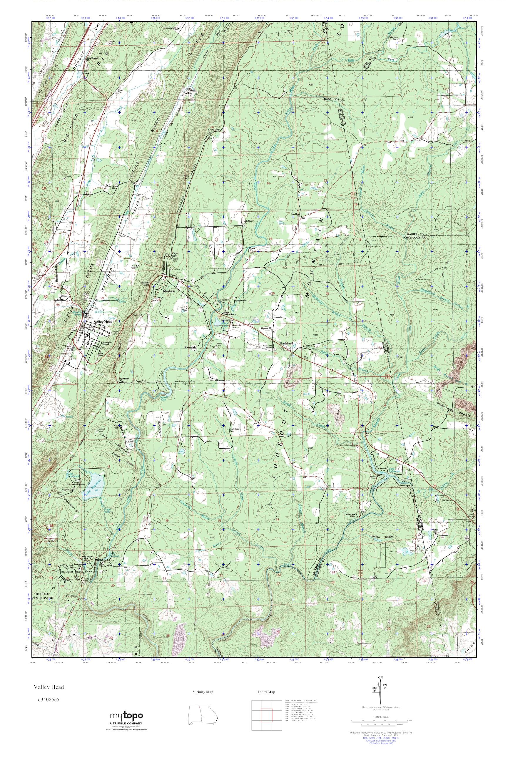 . mytopo valley head georgia usgs quad topo map