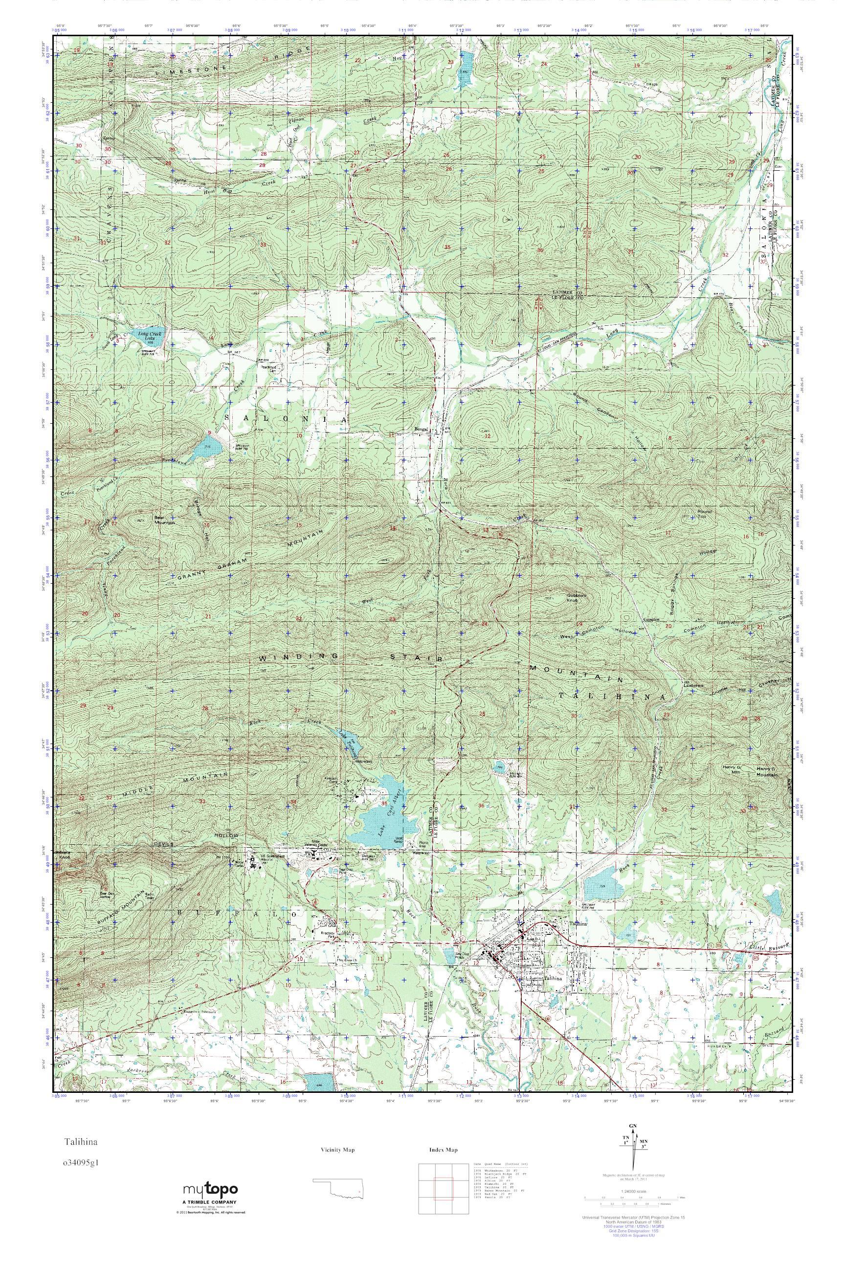 Talihina Oklahoma Map.Mytopo Talihina Oklahoma Usgs Quad Topo Map