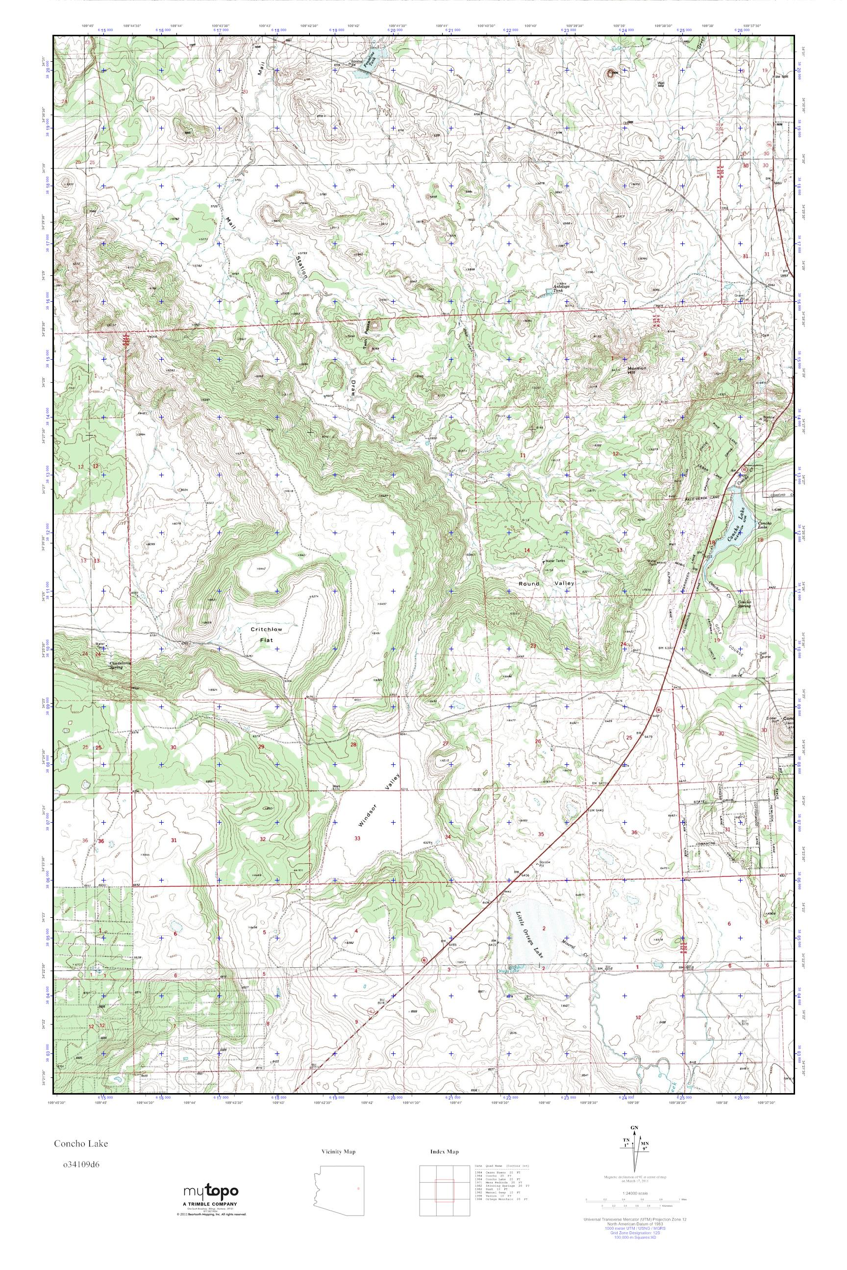 Concho Arizona Map.Mytopo Concho Lake Arizona Usgs Quad Topo Map