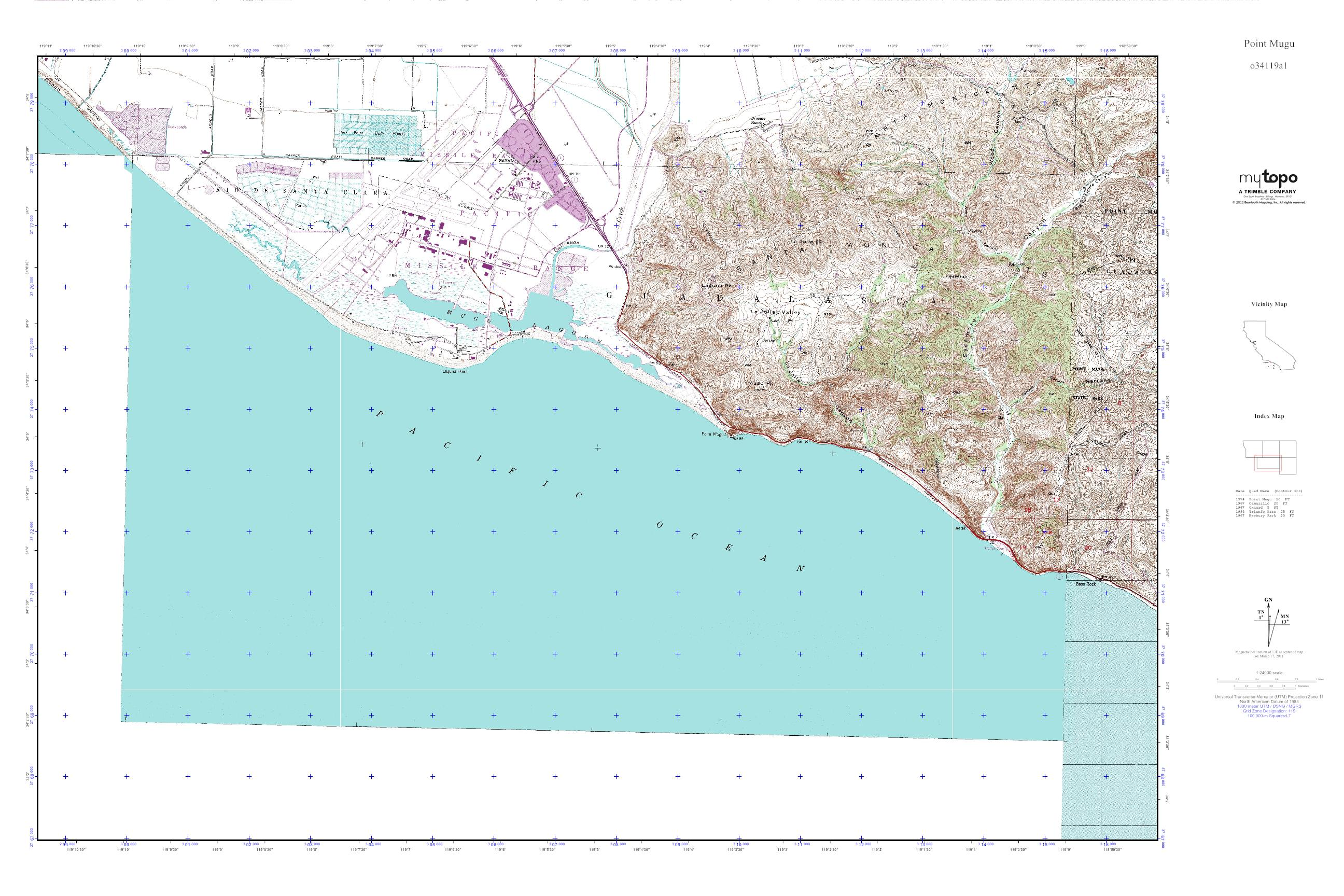 Point Mugu California Map.Mytopo Point Mugu California Usgs Quad Topo Map