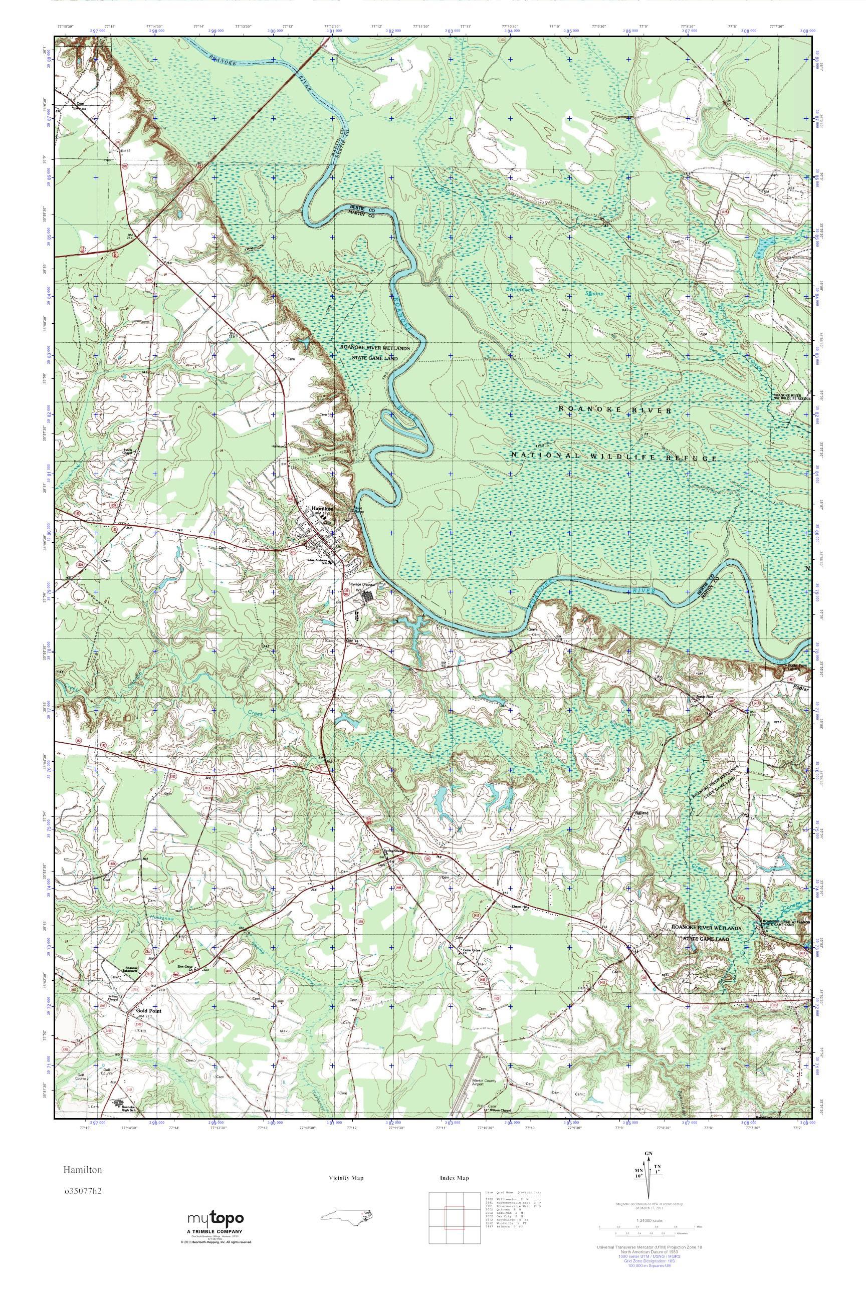 Hamilton Nc Map.Mytopo Hamilton North Carolina Usgs Quad Topo Map