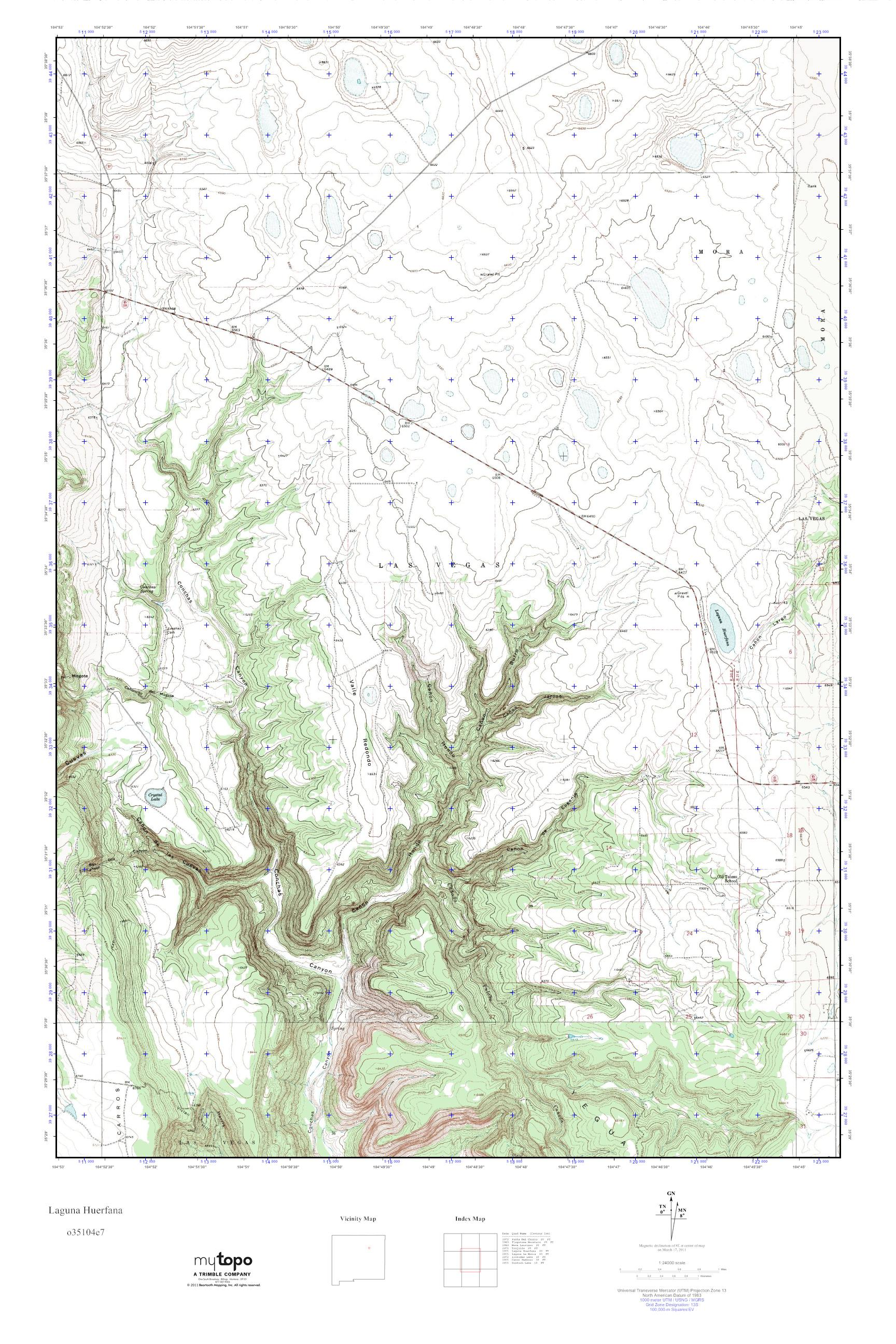 MyTopo Laguna Huerfana New Mexico USGS Quad Topo Map