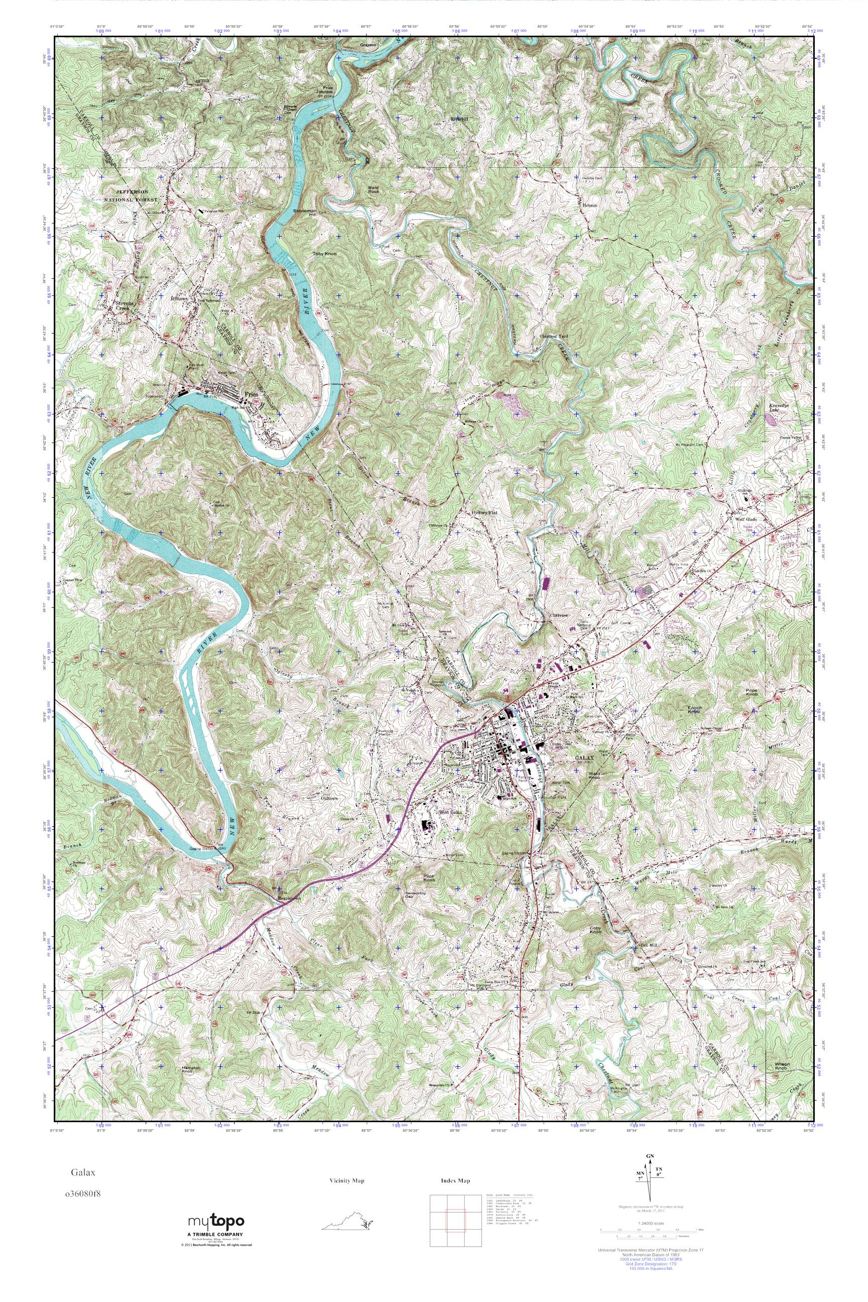 Mytopo Galax Virginia Usgs Quad Topo Map