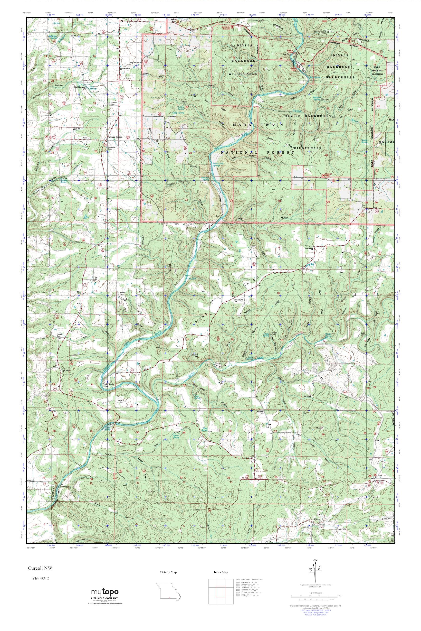 Northwest Missouri Map.Mytopo Cureall Nw Missouri Usgs Quad Topo Map