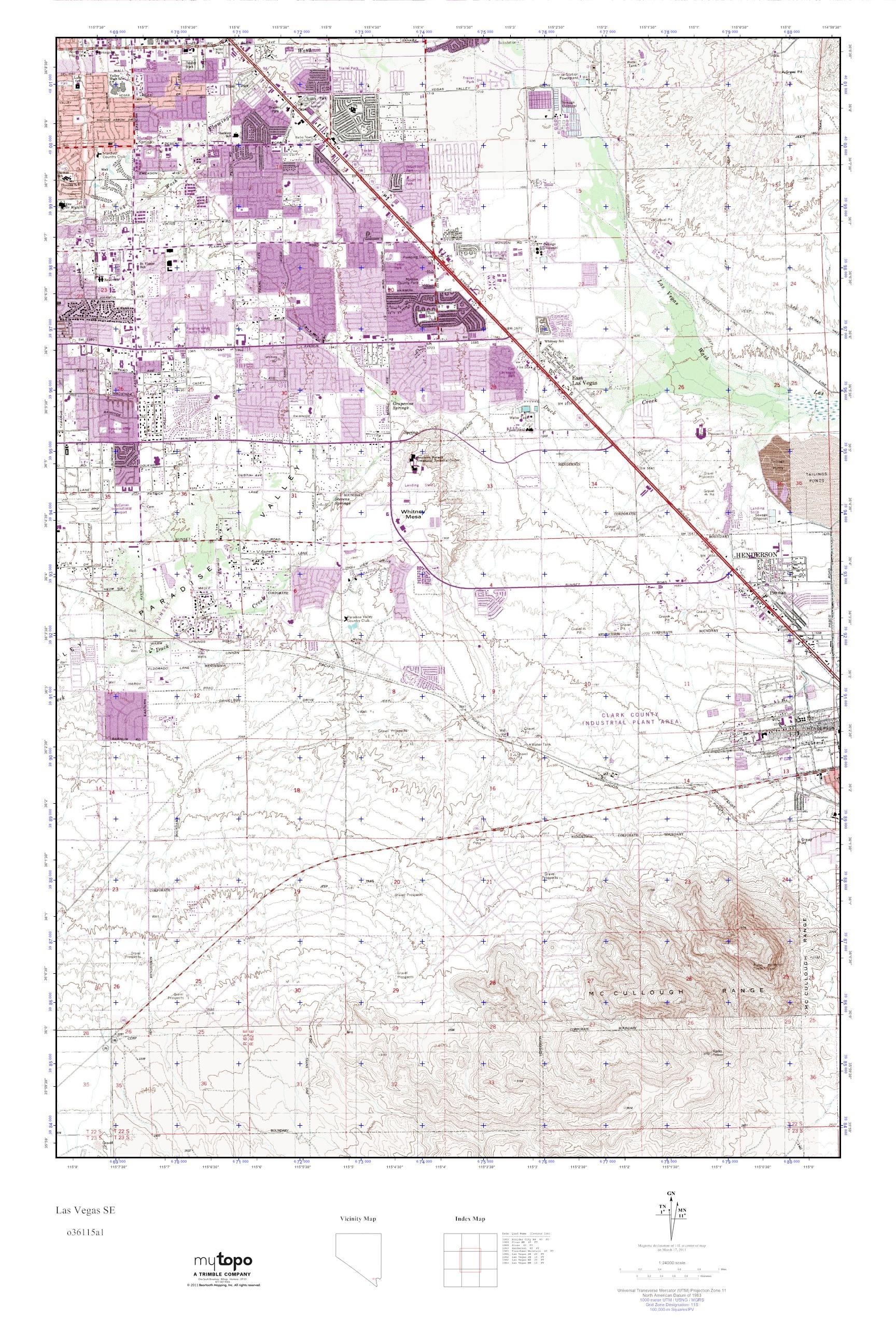 Worksheet. MyTopo Las Vegas SE Nevada USGS Quad Topo Map