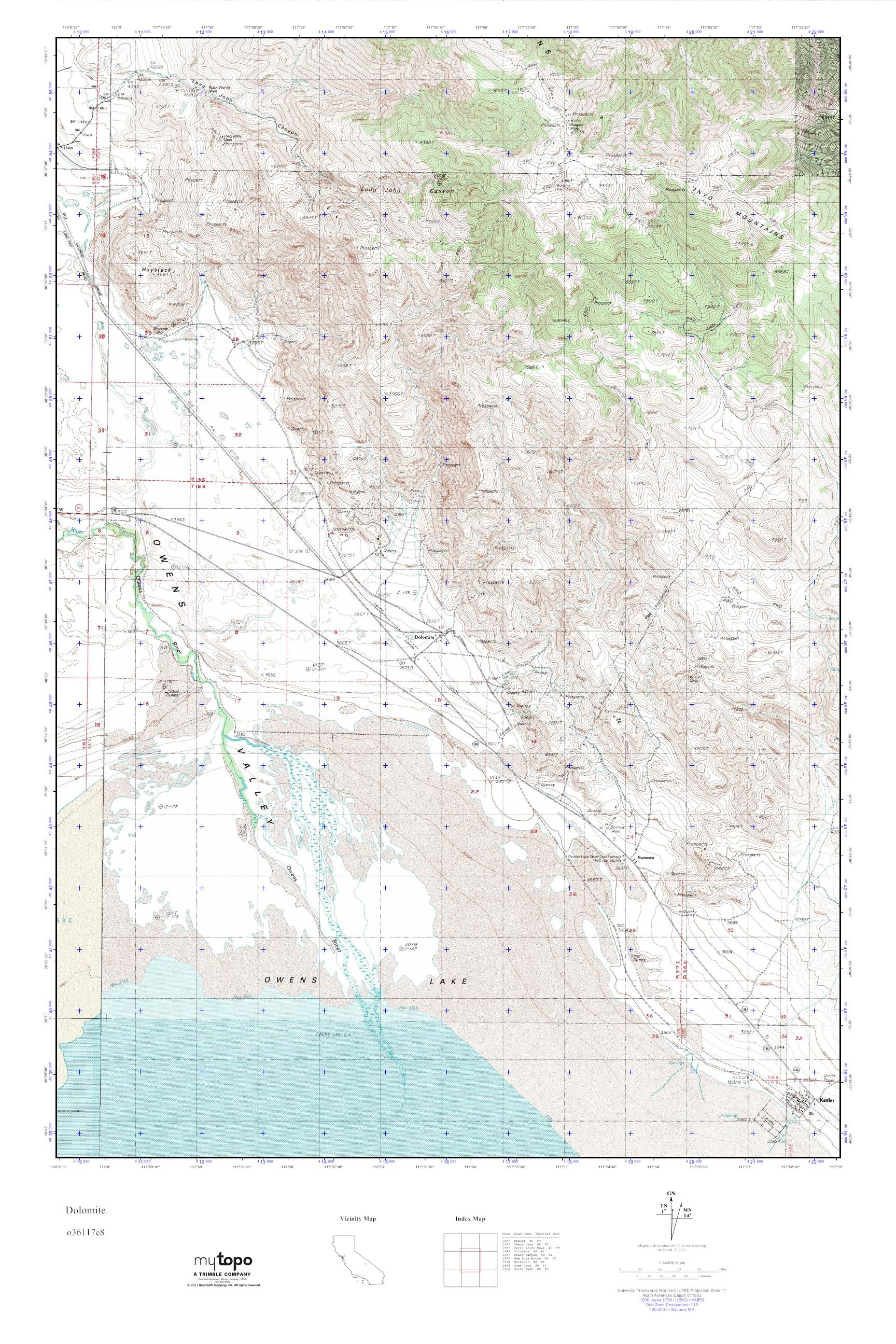 MyTopo Dolomite California USGS Quad Topo Map - Usgs quad maps