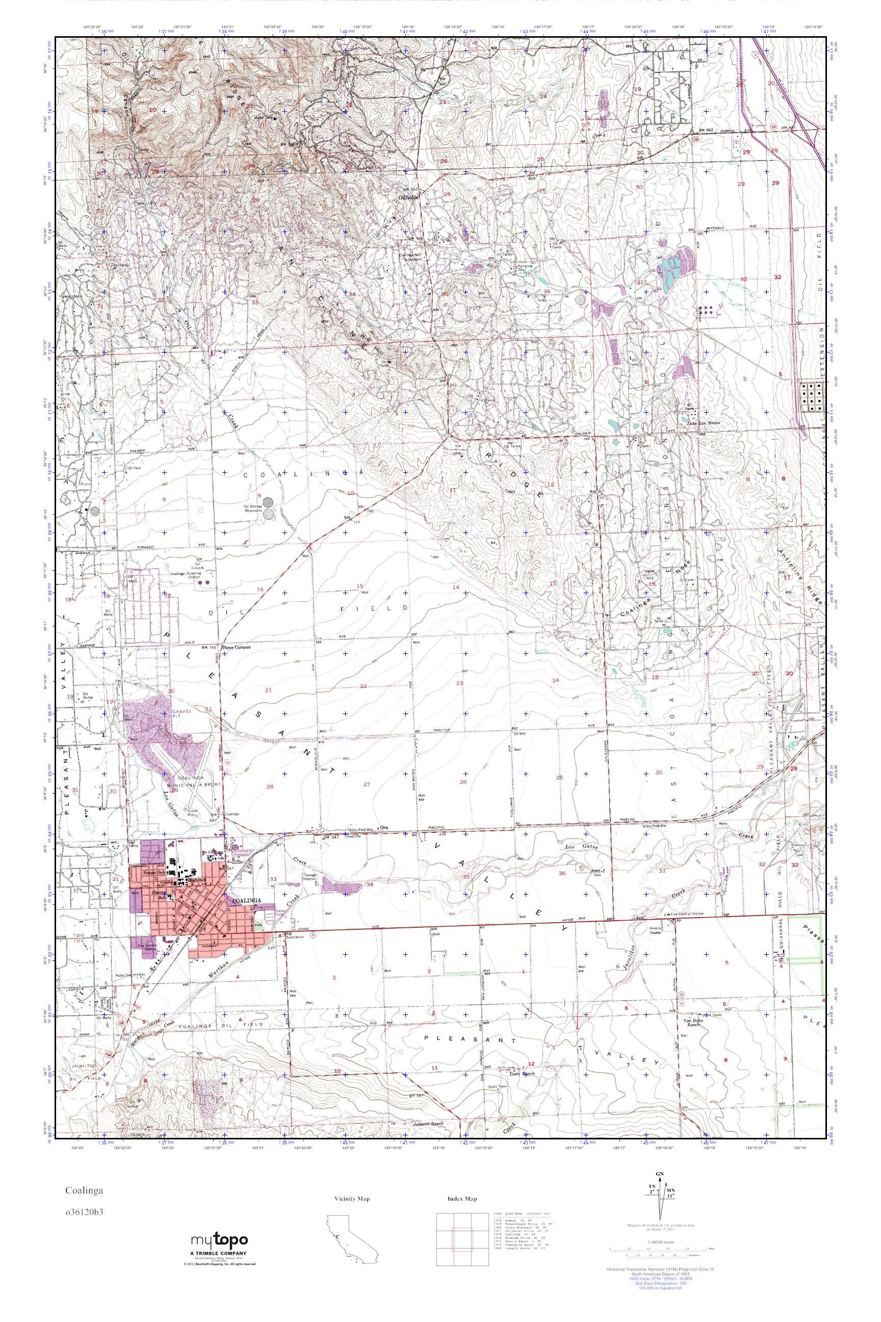 Coalinga California Map.Mytopo Coalinga California Usgs Quad Topo Map