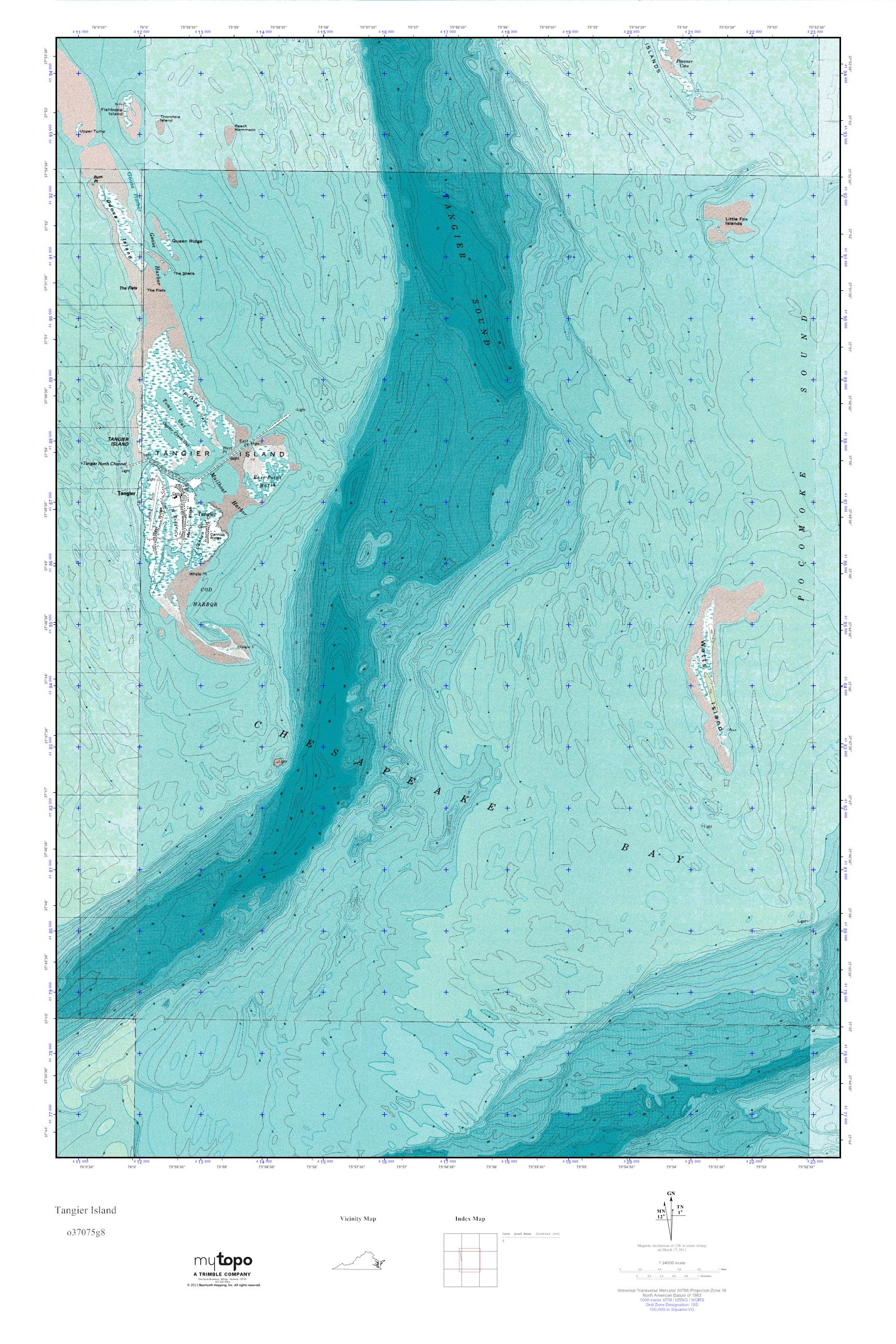 Tangier Island Virginia Map.Mytopo Tangier Island Virginia Usgs Quad Topo Map