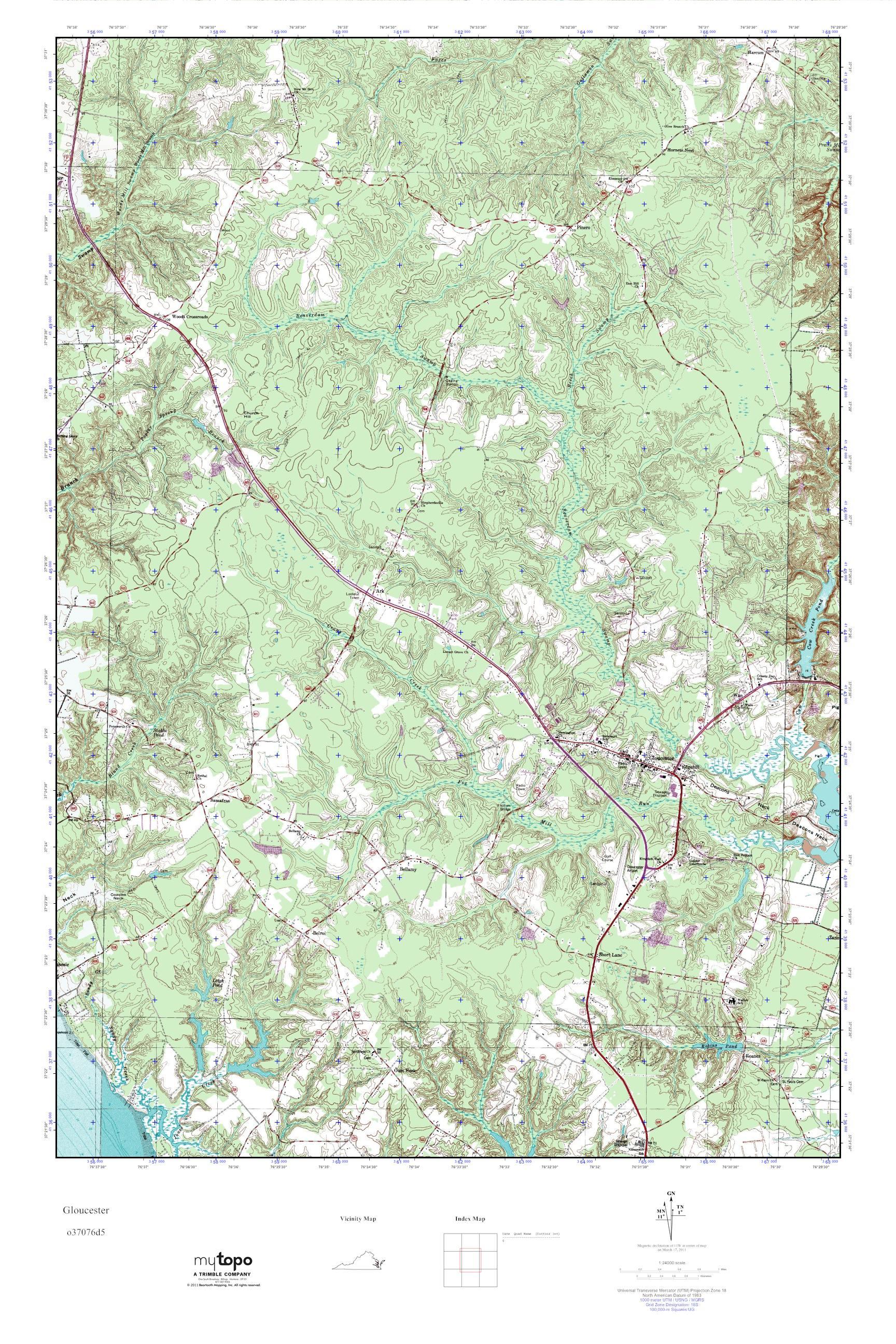 Gloucester Virginia Map.Mytopo Gloucester Virginia Usgs Quad Topo Map