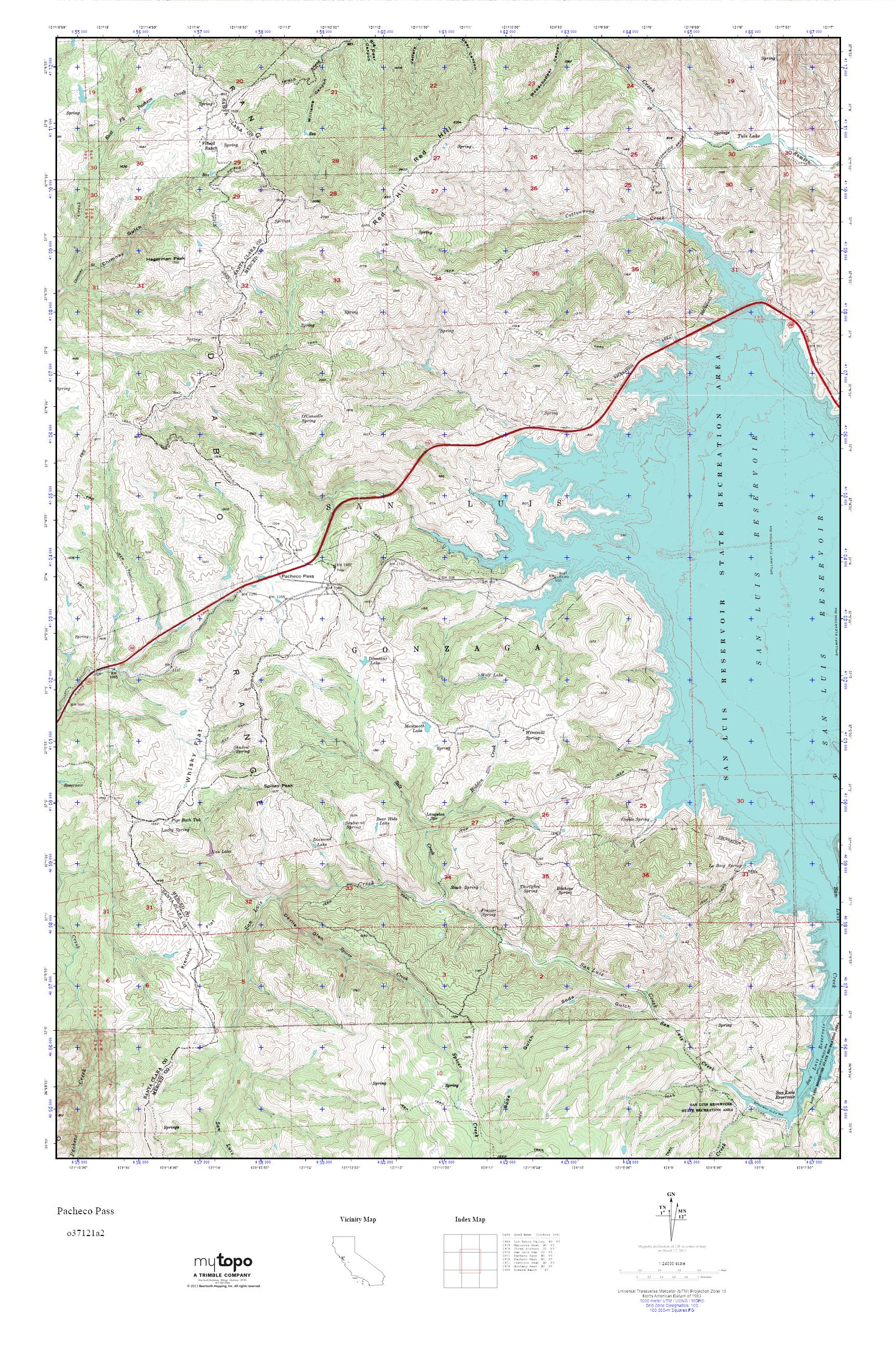 Pacheco California Map.Mytopo Pacheco Pass California Usgs Quad Topo Map