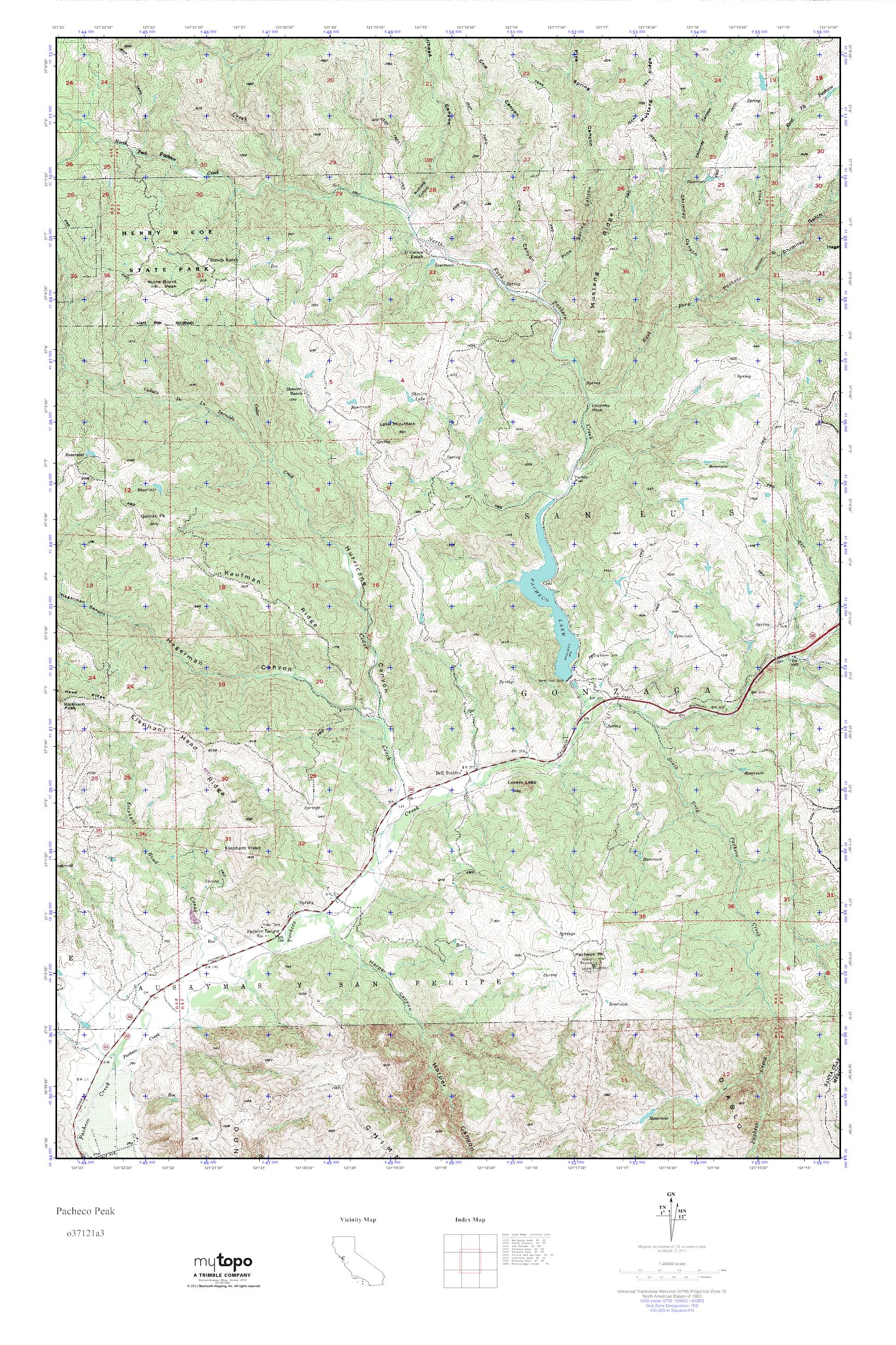 Pacheco California Map.Mytopo Pacheco Peak California Usgs Quad Topo Map