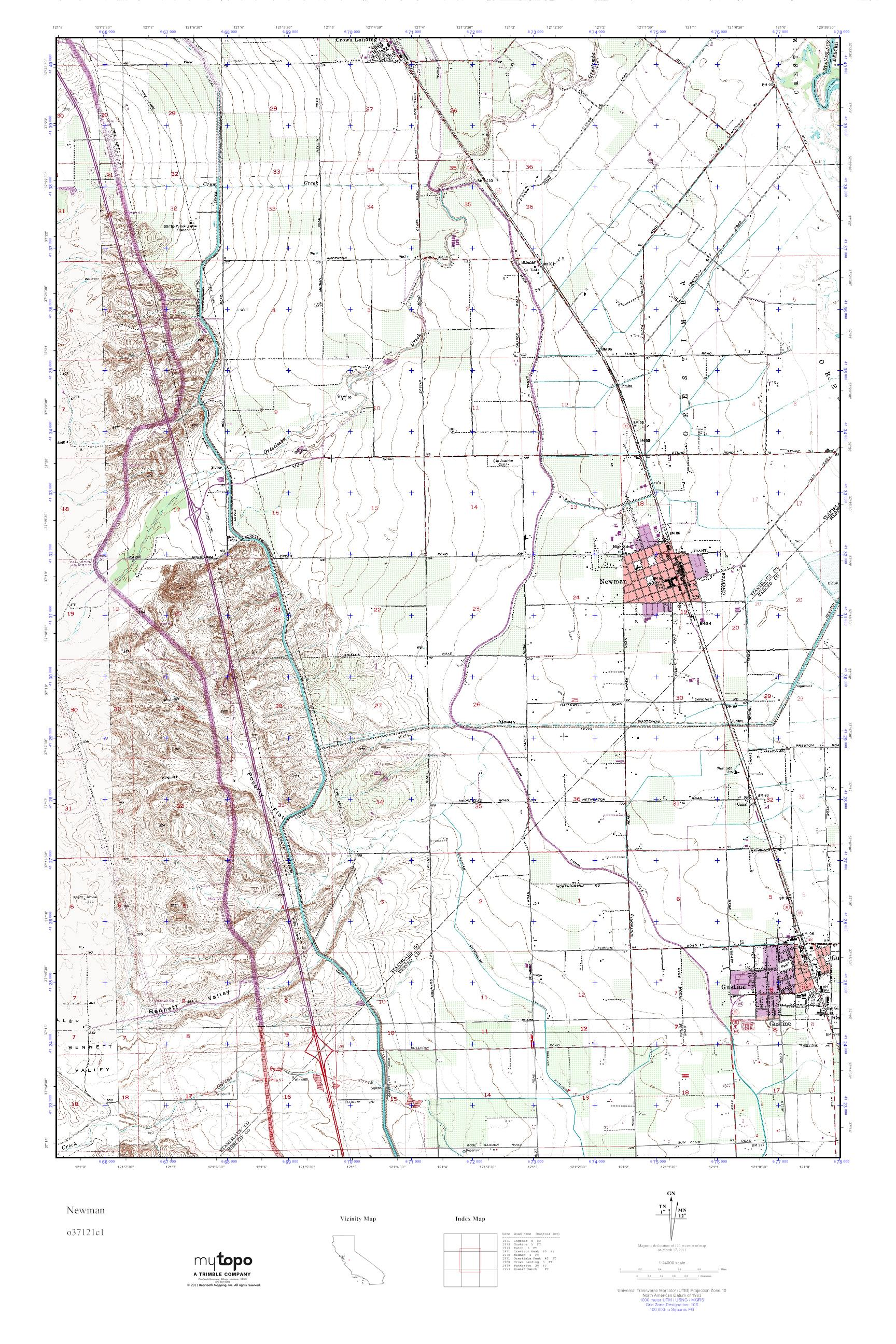 Newman California Map.Mytopo Newman California Usgs Quad Topo Map