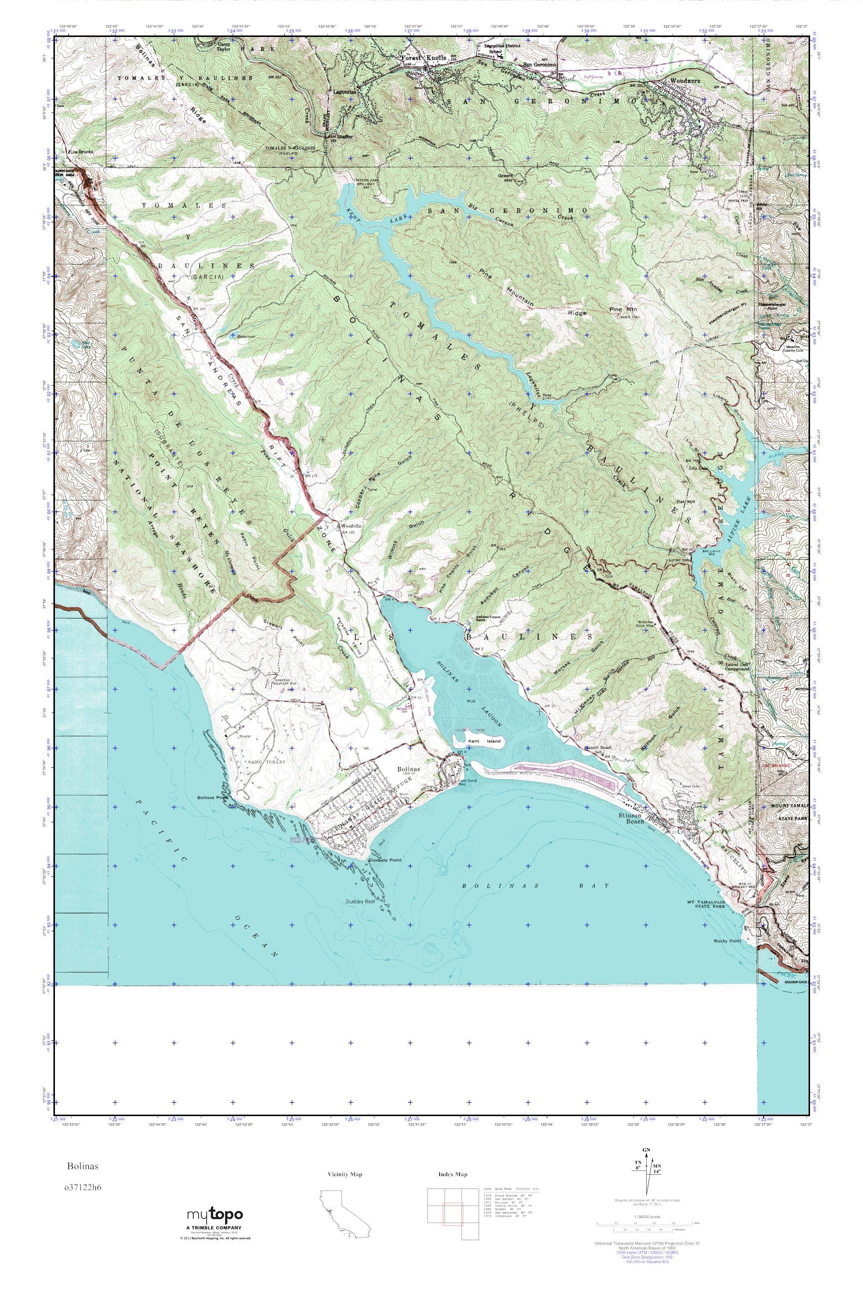 Bolinas Map