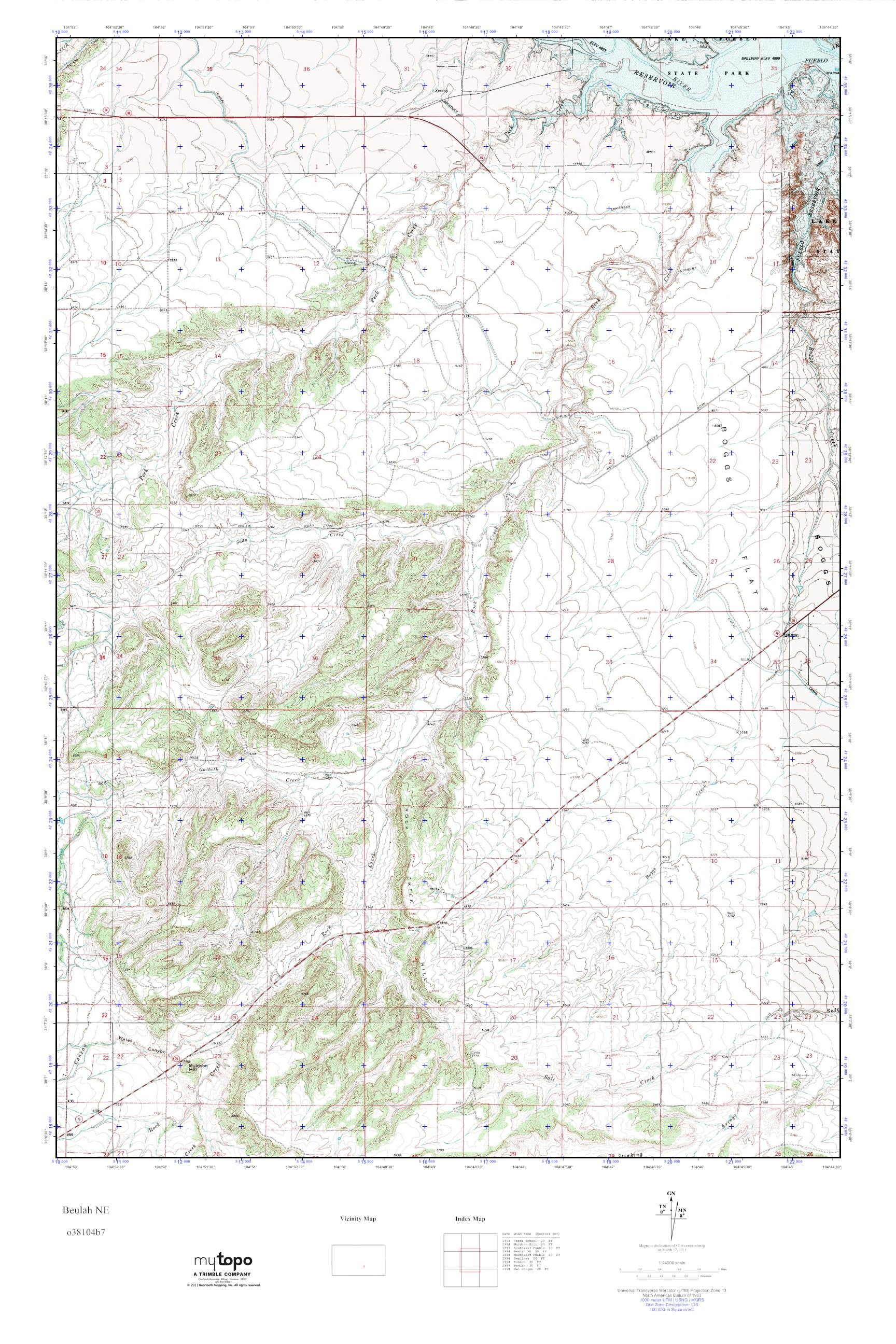 Mytopo Beulah Ne Colorado Usgs Quad Topo Map
