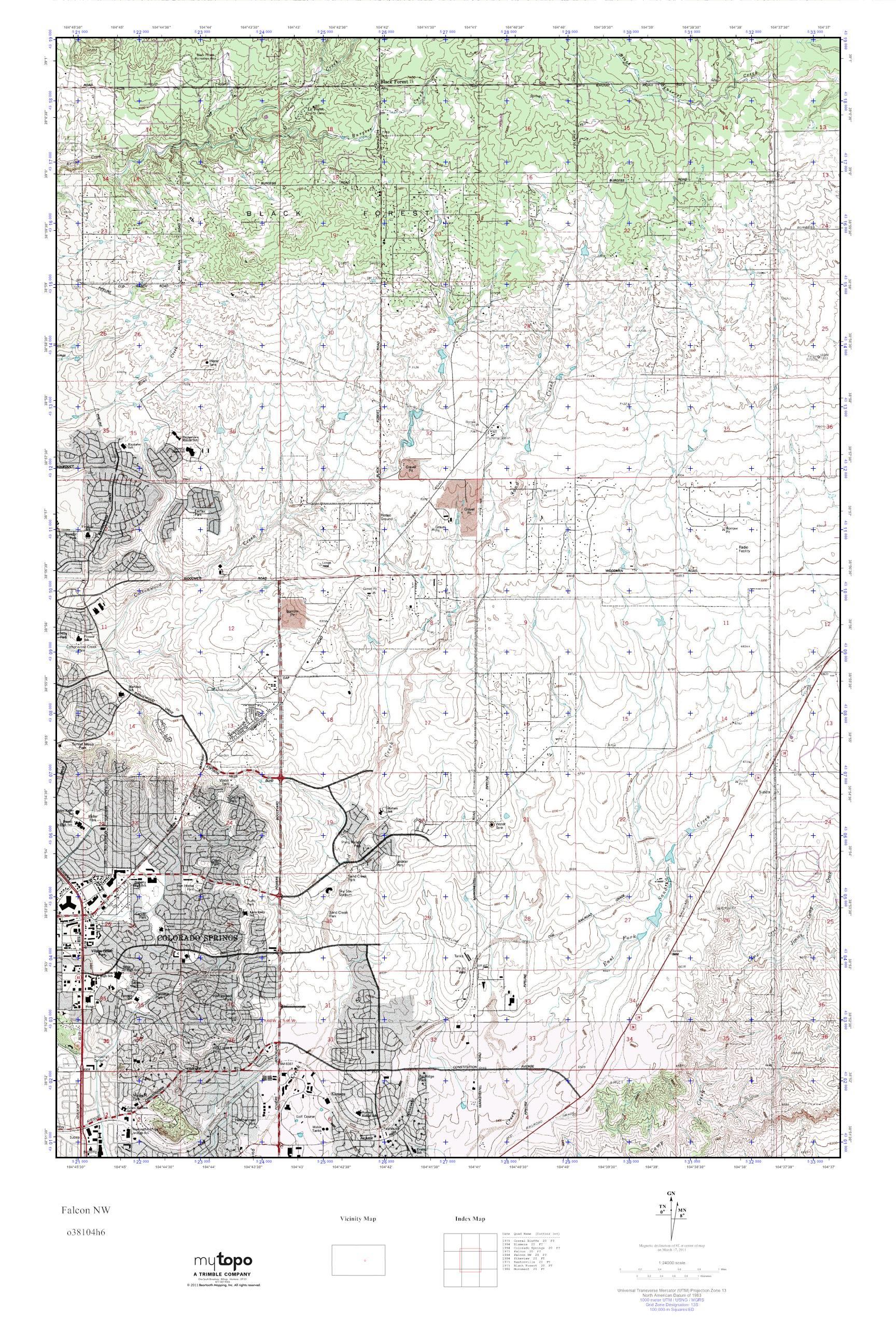 Nw Colorado Map.Mytopo Falcon Nw Colorado Usgs Quad Topo Map