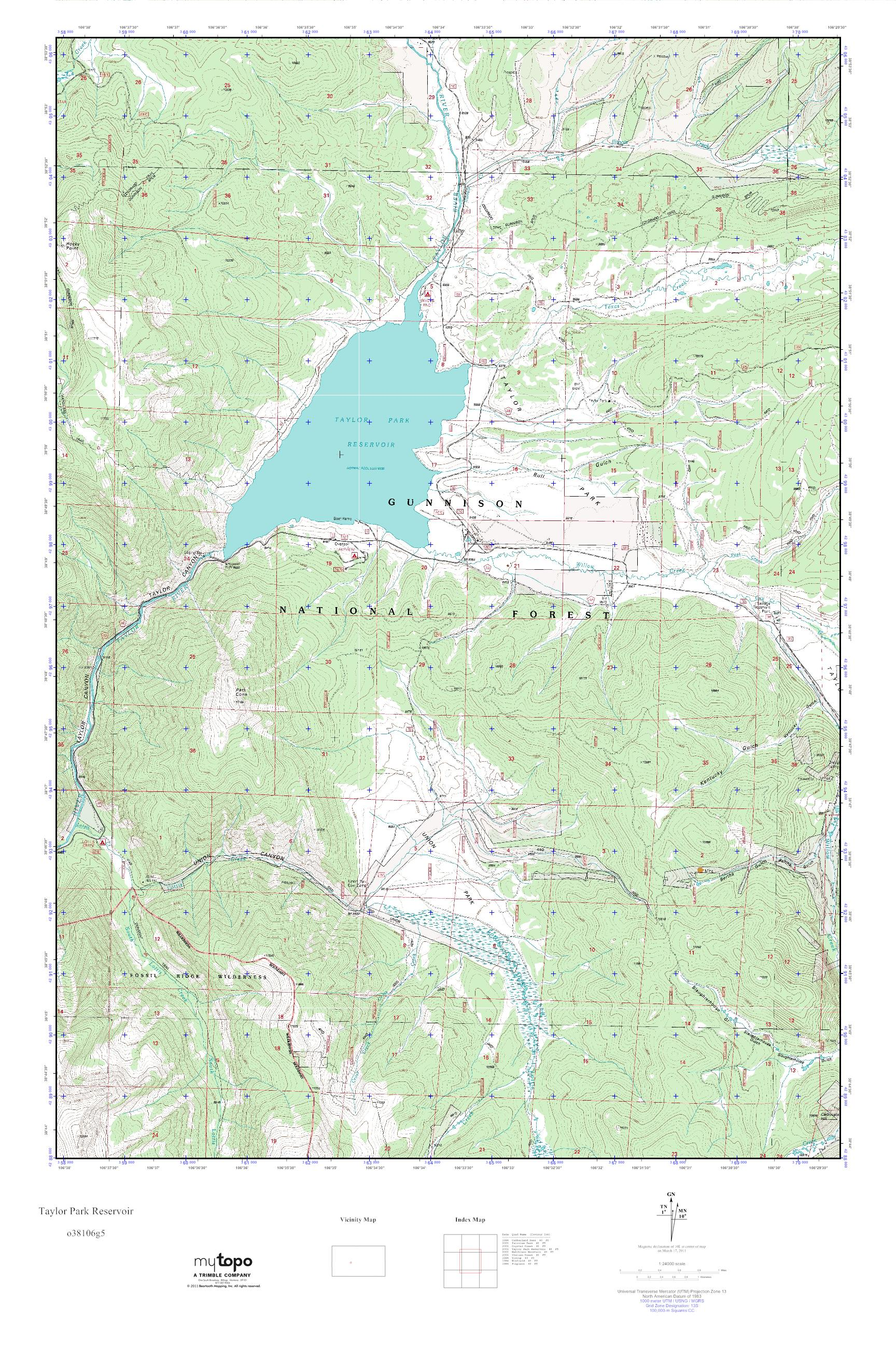 Taylor Park Colorado Map.Mytopo Taylor Park Reservoir Colorado Usgs Quad Topo Map