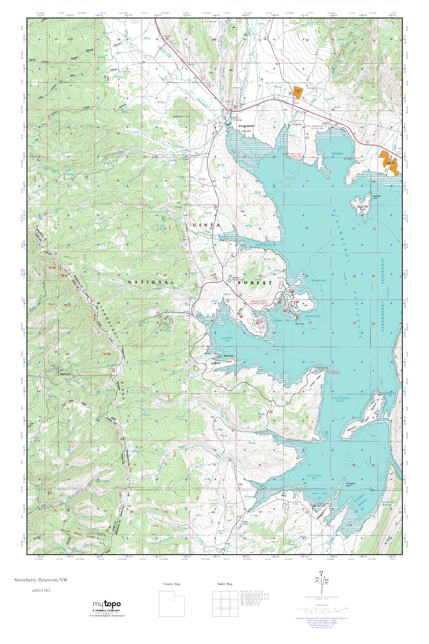 Strawberry Reservoir Map MyTopo Strawberry Reservoir NW, Utah USGS Quad Topo Map Strawberry Reservoir Map