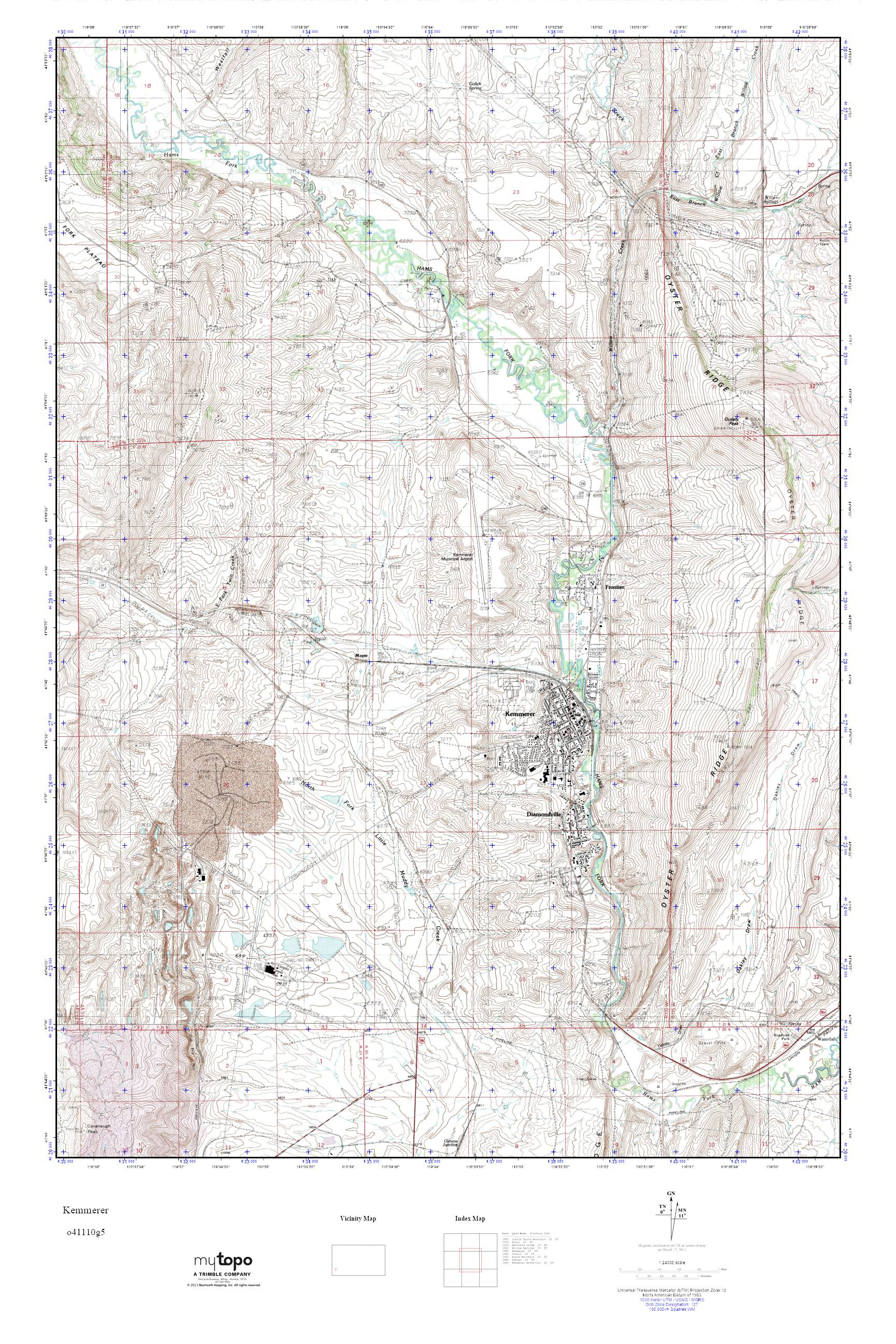 Kemmerer Wyoming Map.Mytopo Kemmerer Wyoming Usgs Quad Topo Map