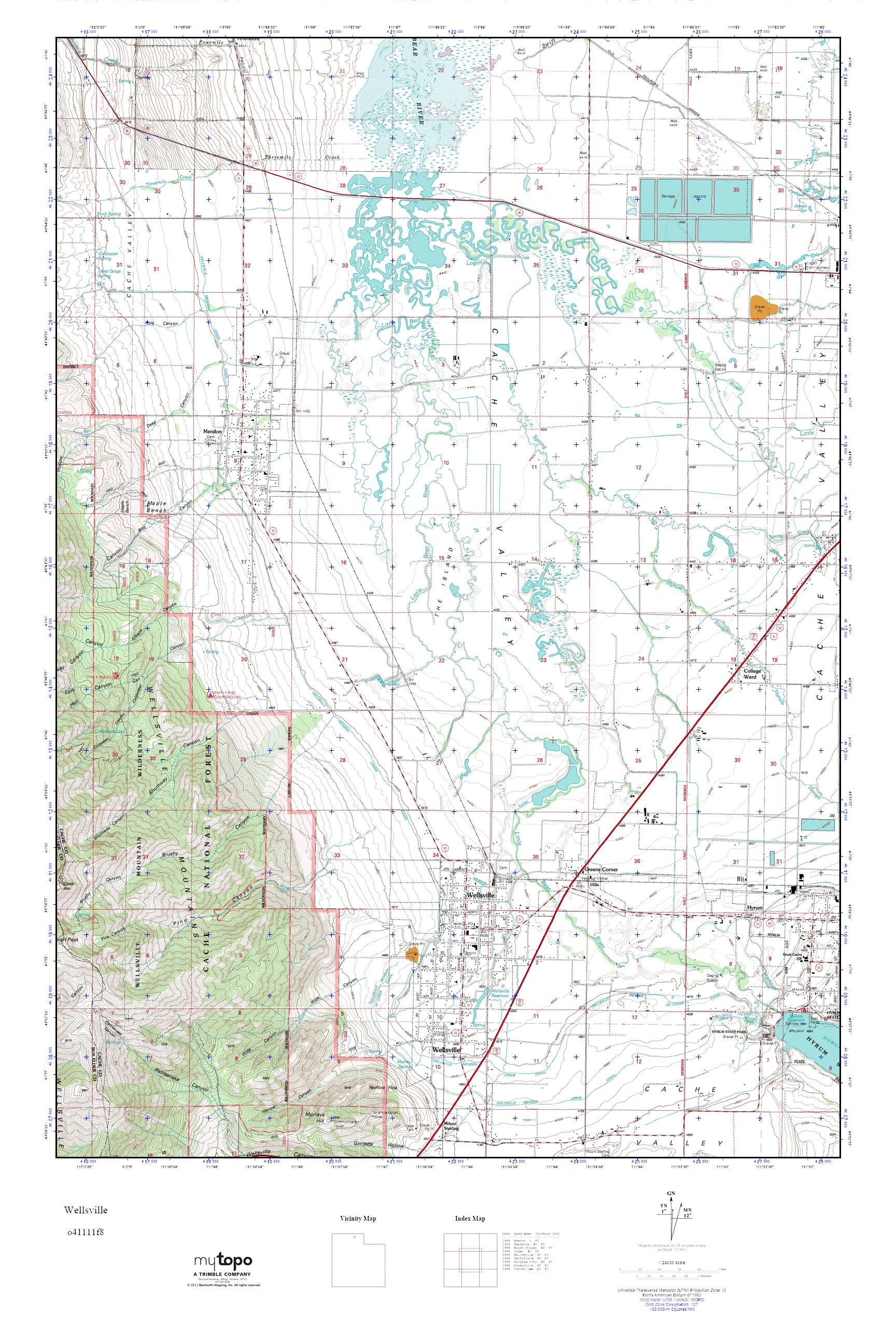 Wellsville Utah Map.Mytopo Wellsville Utah Usgs Quad Topo Map