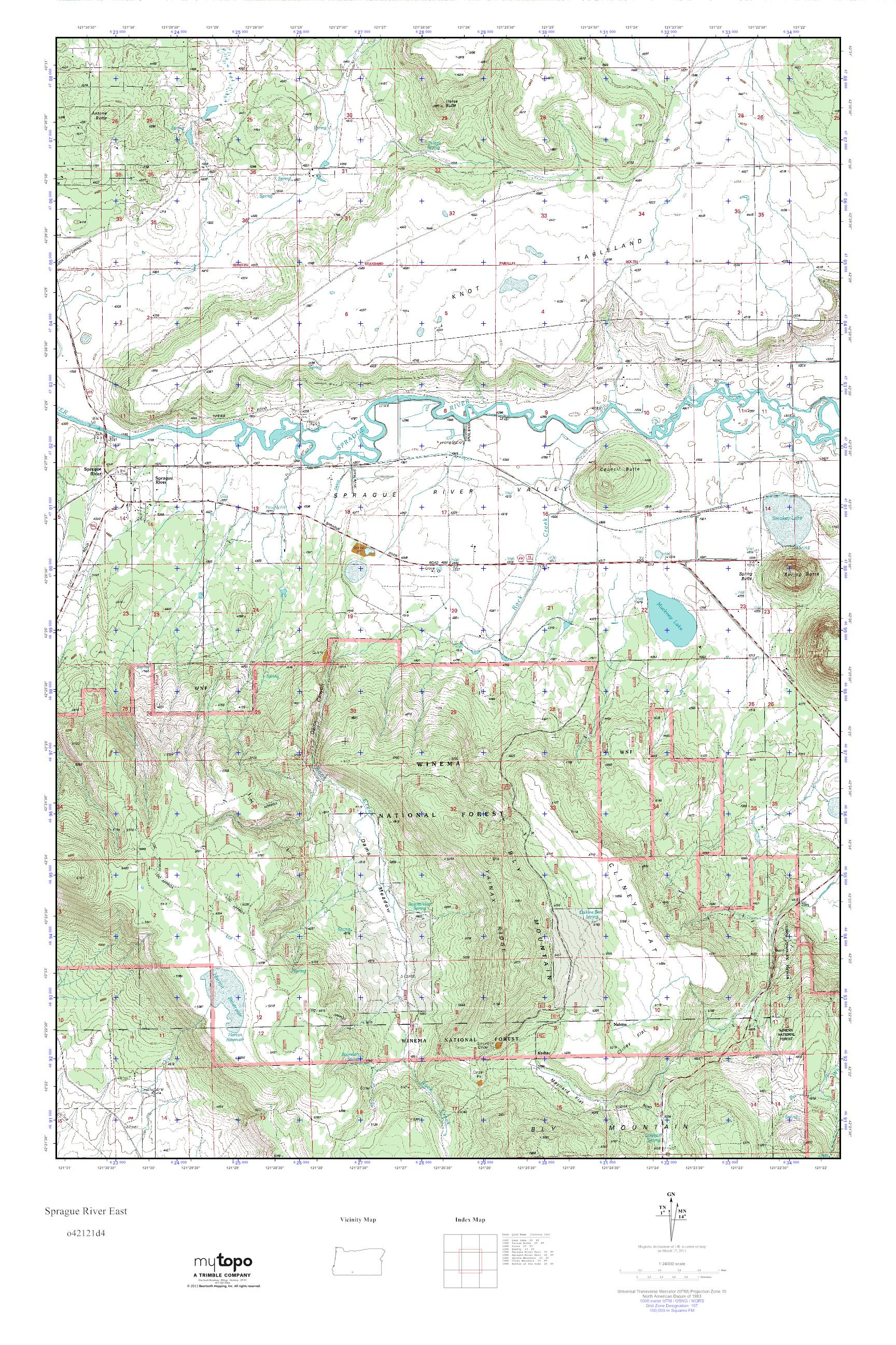 Mytopo Sprague River East Oregon Usgs Quad Topo Map