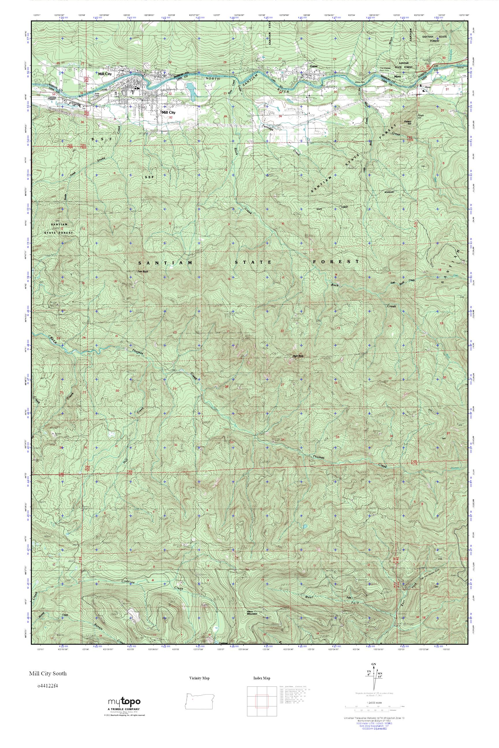 Mill City Oregon Map.Mytopo Mill City South Oregon Usgs Quad Topo Map