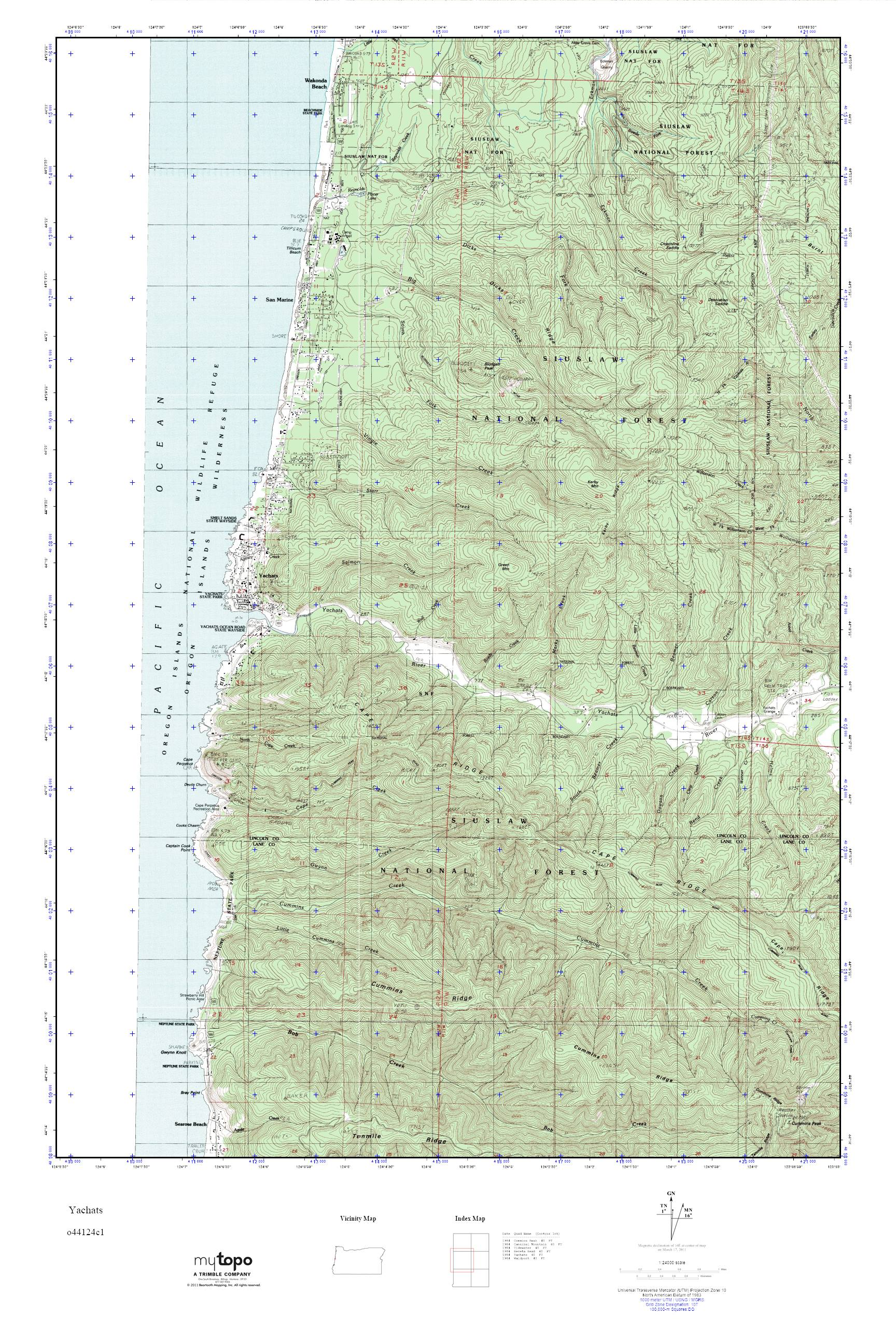 MyTopo Yachats, Oregon USGS Quad Topo Map on oregon milepost marker map, oregon coast map, eastern oregon cities map, gleneden beach oregon map, sea lion caves oregon map, bandon oregon map, d river oregon map, city of astoria oregon map, cape perpetua map, cannon beach oregon map, northern california oregon border map, oregon odot district map, waldport oregon map, beverly beach state park oregon map, st. paul oregon map, oregon rest areas map, floras lake oregon map, pistol river oregon map, highway 22 oregon map, cape lookout state park oregon map,