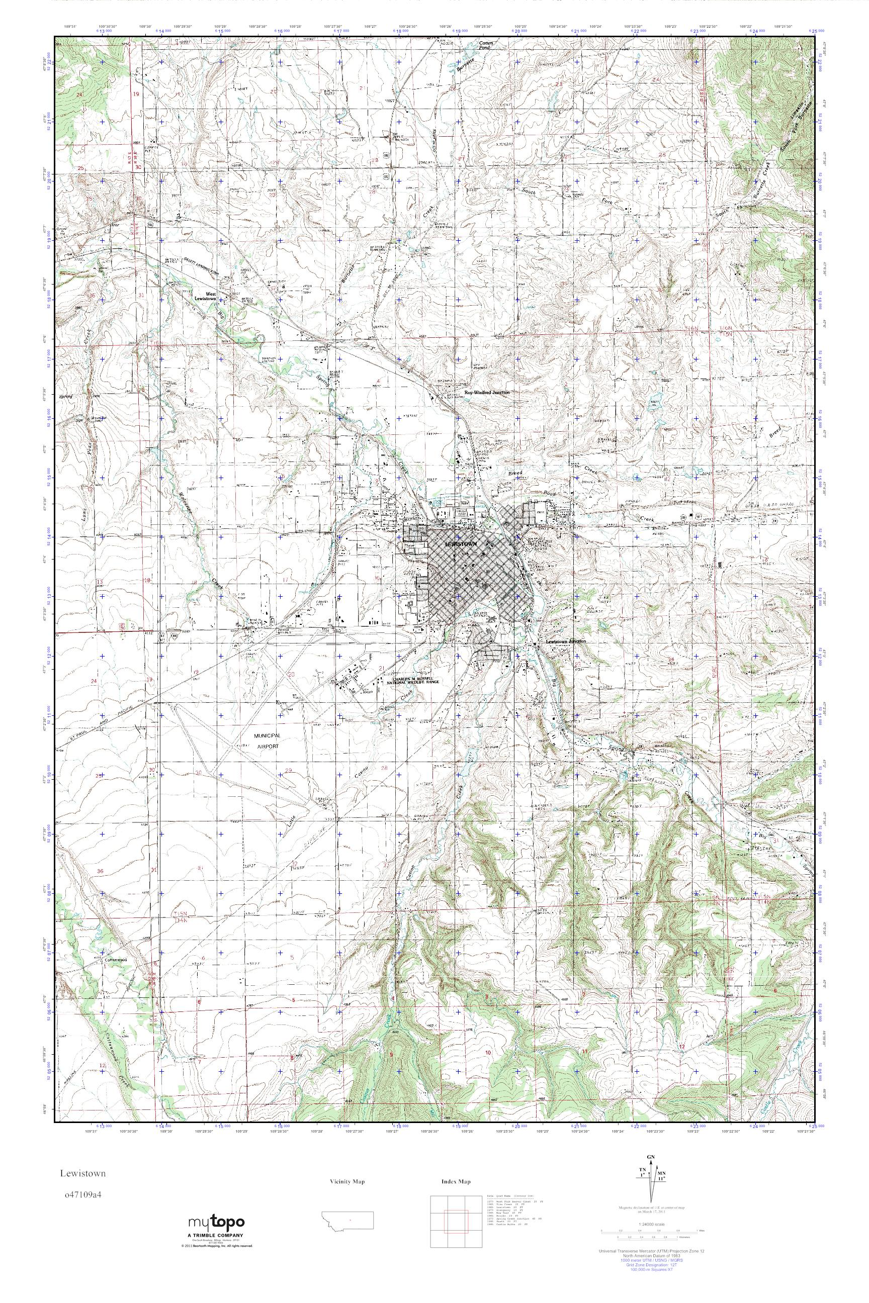 Lewiston Montana Map.Mytopo Lewistown Montana Usgs Quad Topo Map