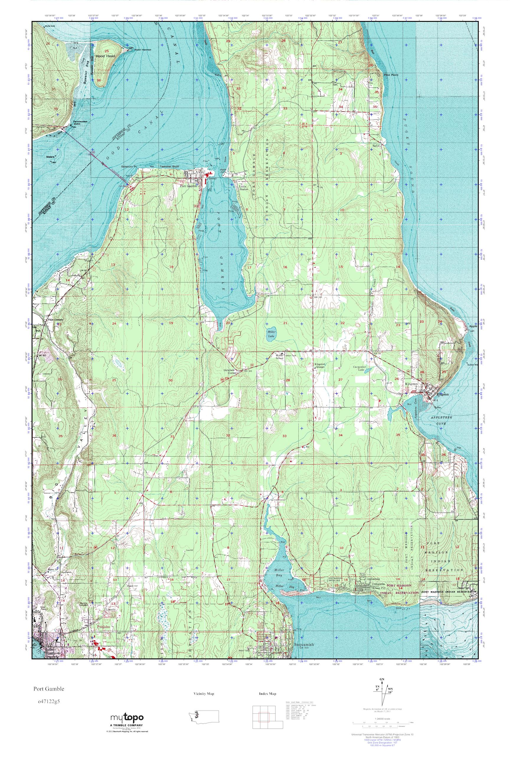 Port Gamble Washington Map.Mytopo Port Gamble Washington Usgs Quad Topo Map