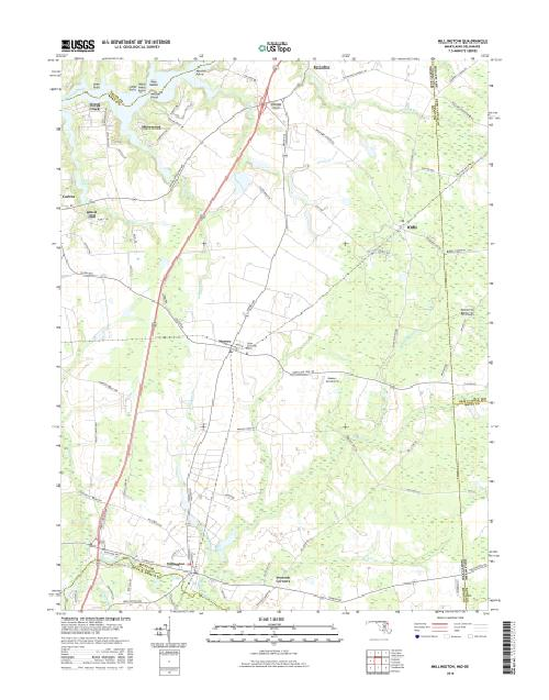 MyTopo Millington, Maryland USGS Quad Topo Map
