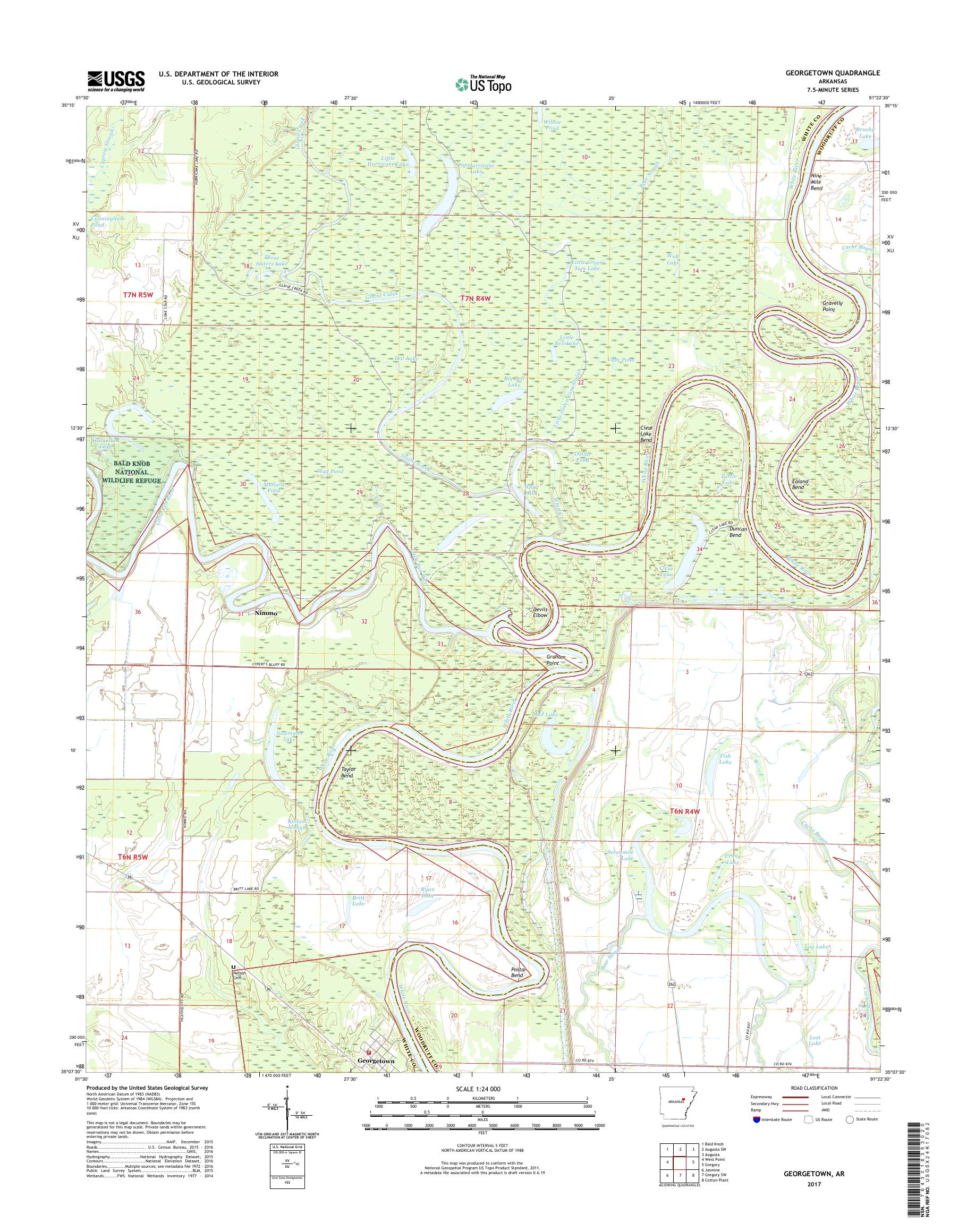 MyTopo Georgetown, Arkansas USGS Quad Topo Map
