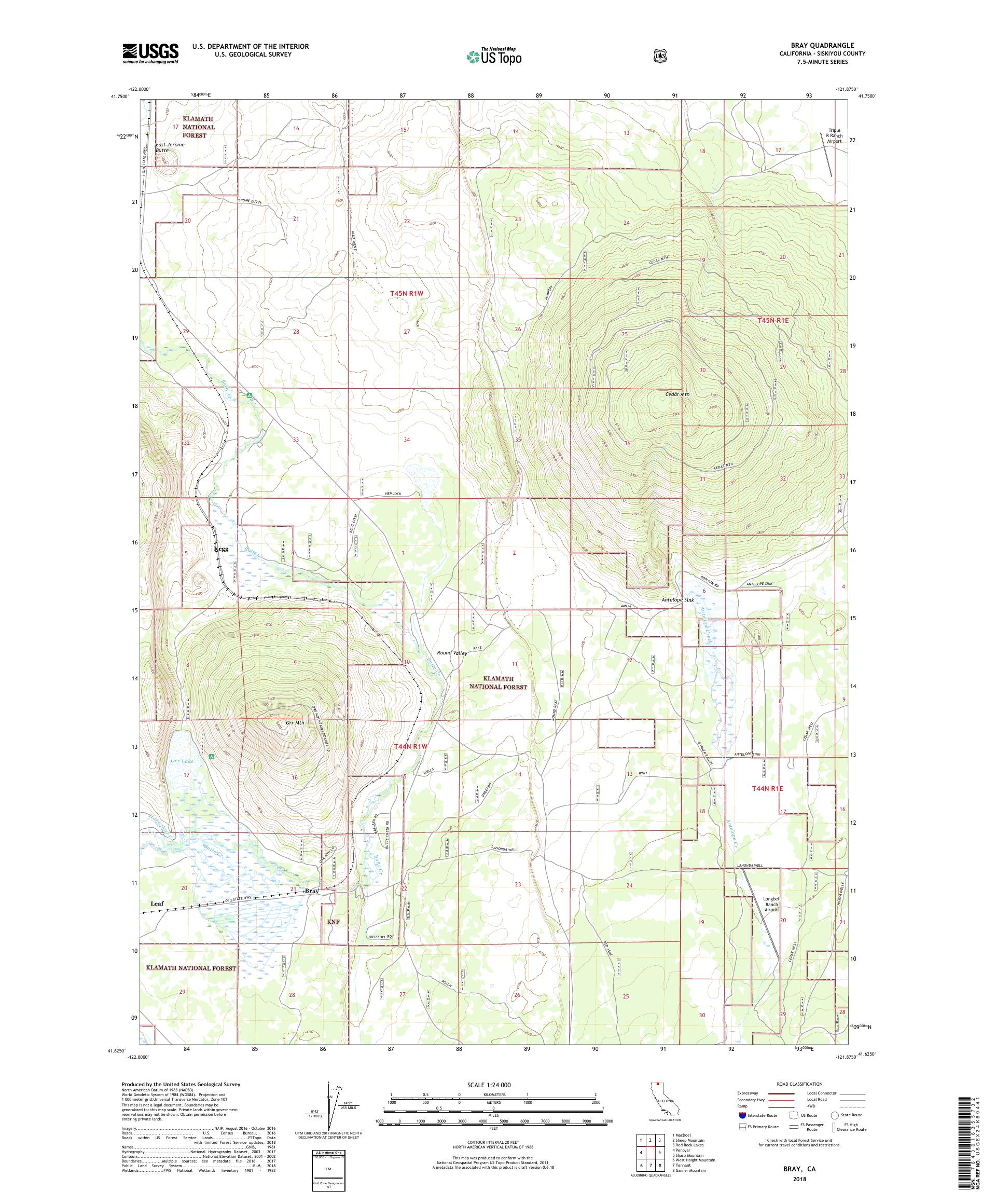 MyTopo y, California USGS Quad Topo Map on