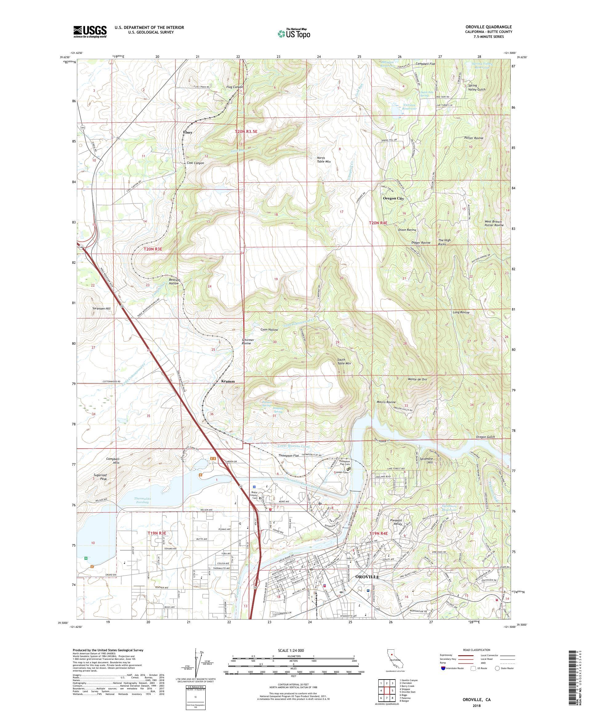 Oroville California Map >> Mytopo Oroville California Usgs Quad Topo Map