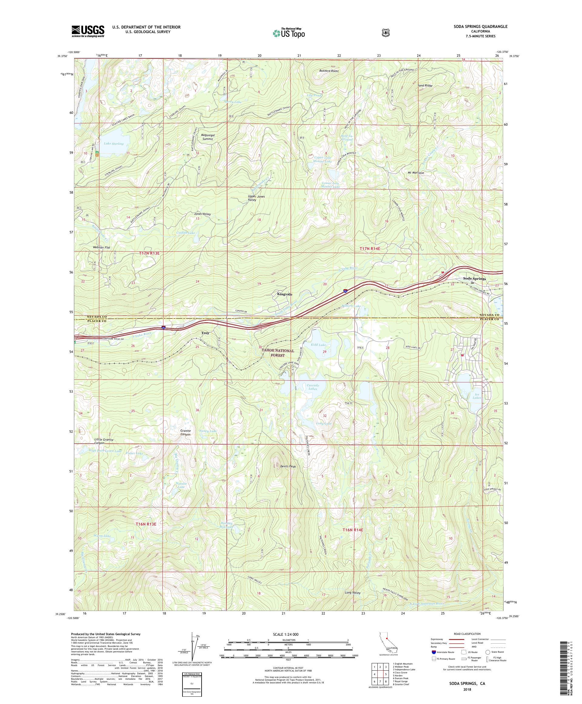Mytopo Soda Springs California Usgs Quad Topo Map - Soda-map-of-the-us